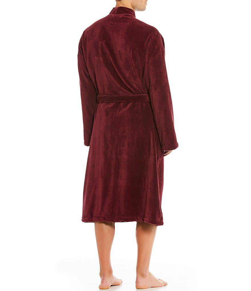 lyst polo ralph lauren velour kimono robe in red for men. Black Bedroom Furniture Sets. Home Design Ideas