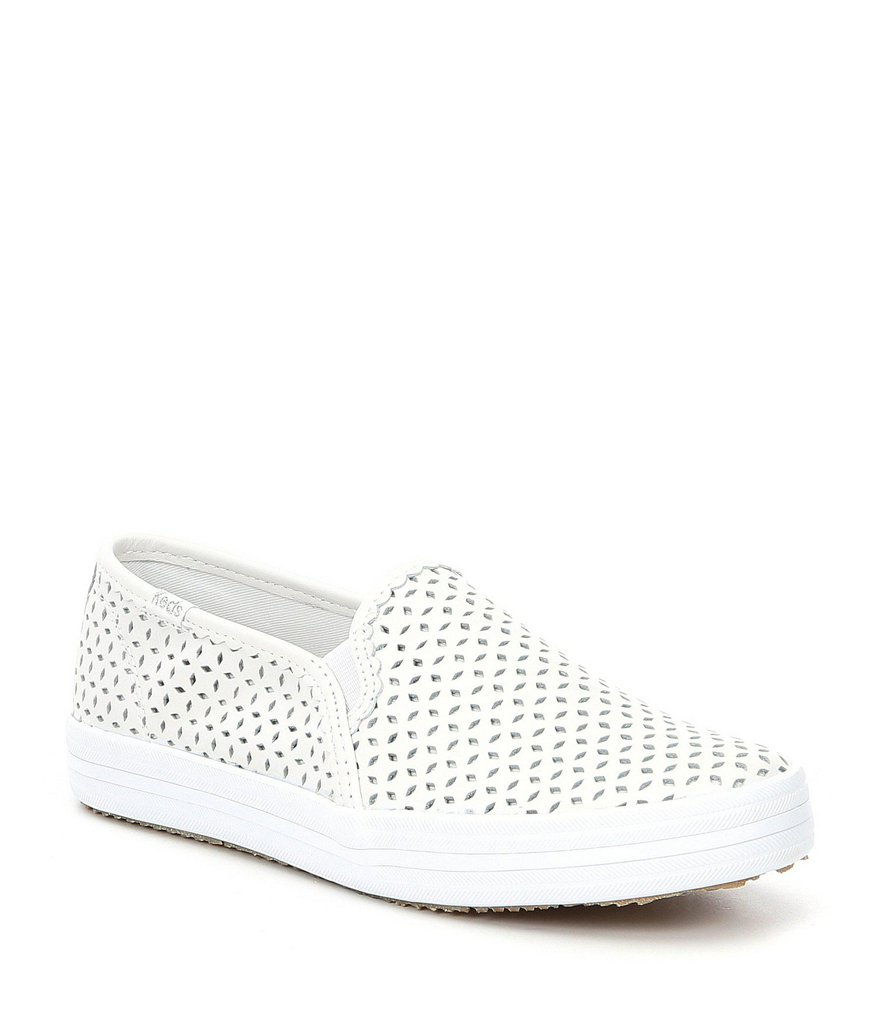8e30e660a52 Kate Spade Keds X Double Decker Laser Perforated Eyelet Sneakers in ...