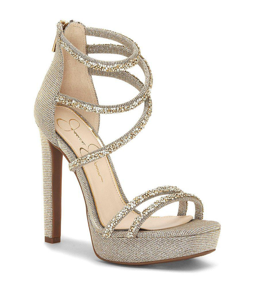 Jessica Simpson Jaxelle Ankle-Sock Dress Sandals Women's Shoes ZAeos