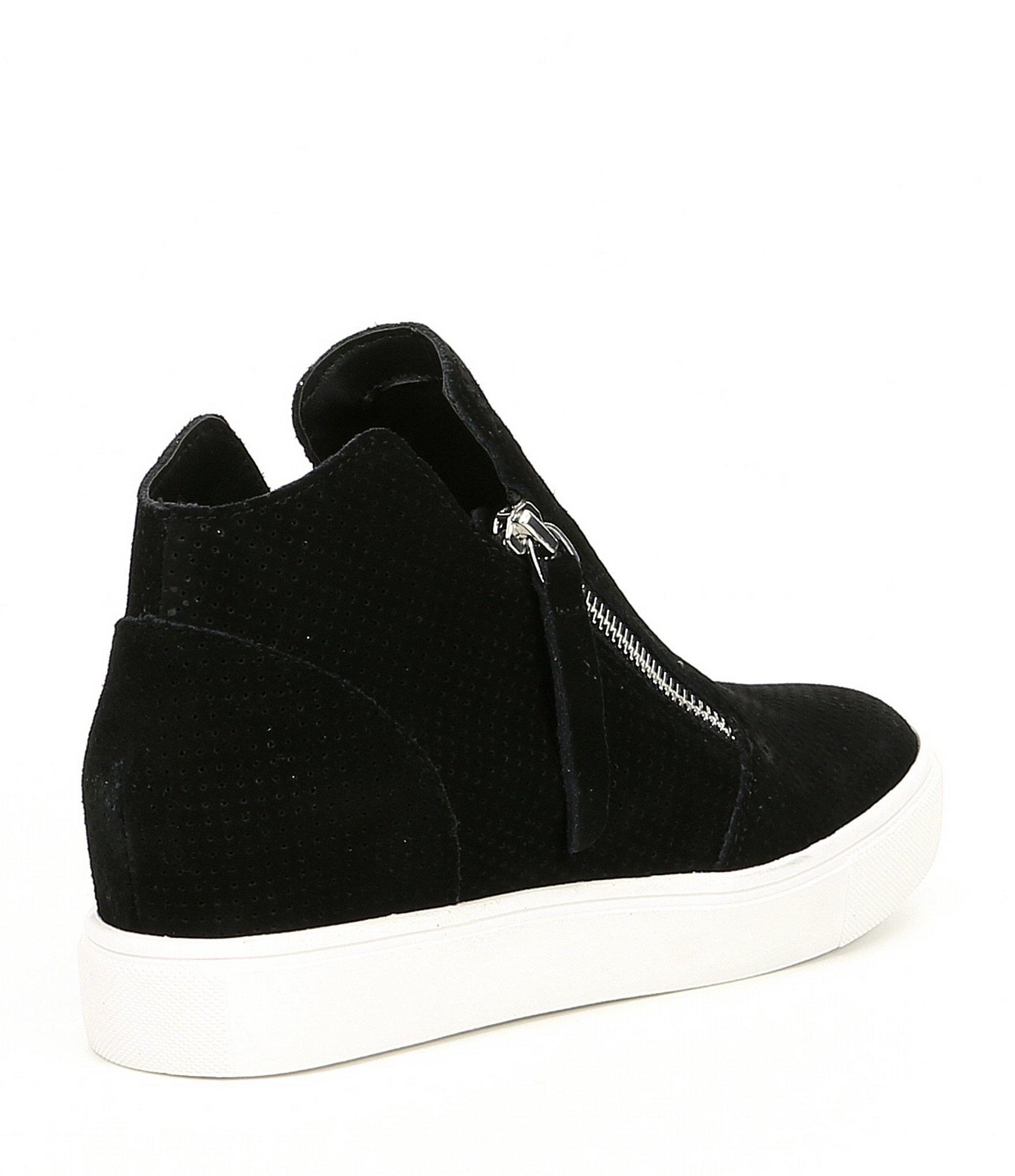 c51e2d8ac3e Steve Madden Caliber Wedge Sneakers in Black - Lyst