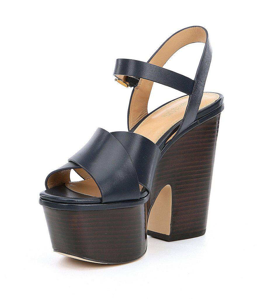 cc9239abe MICHAEL Michael Kors Divia Platform Wedge Sandals in Brown - Lyst
