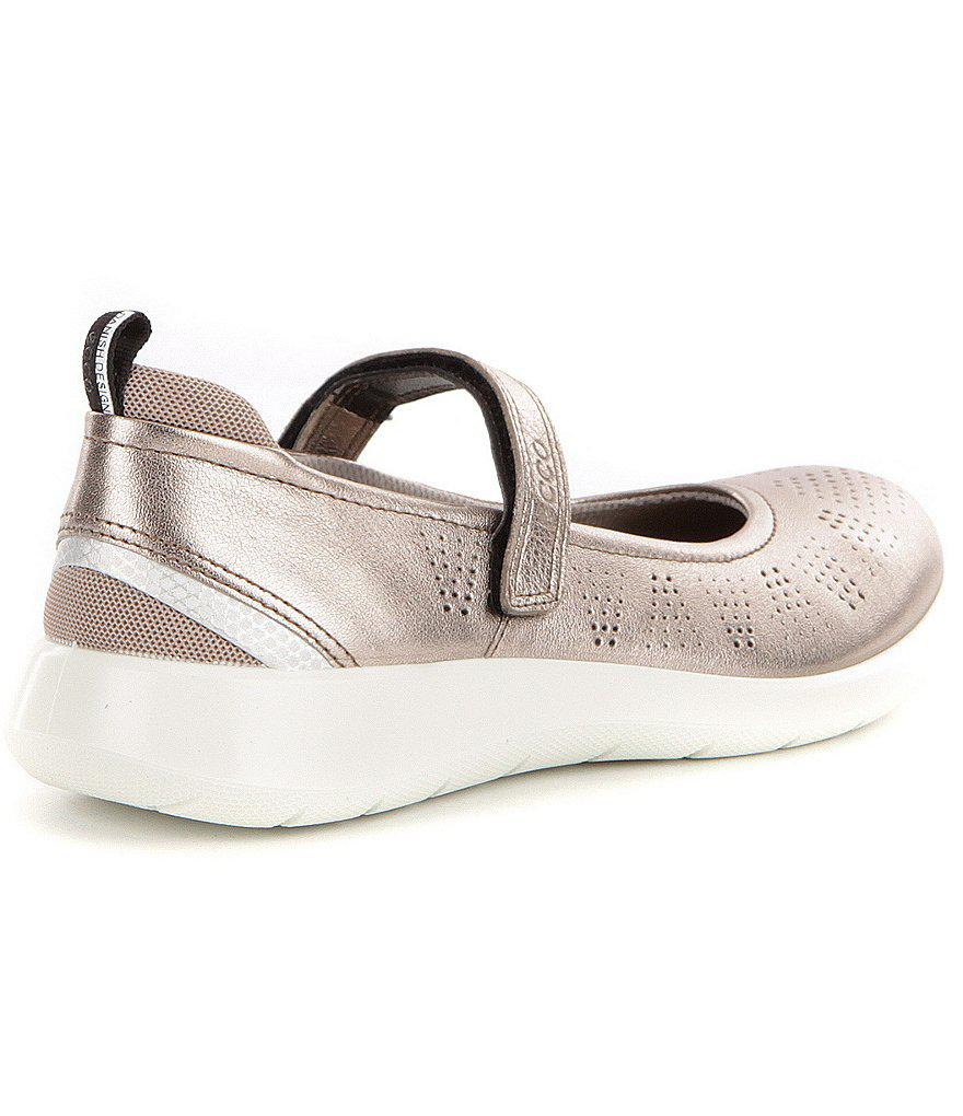 ECCO Soft 5 Mesh & Leather Mary Janes hNOuXPo