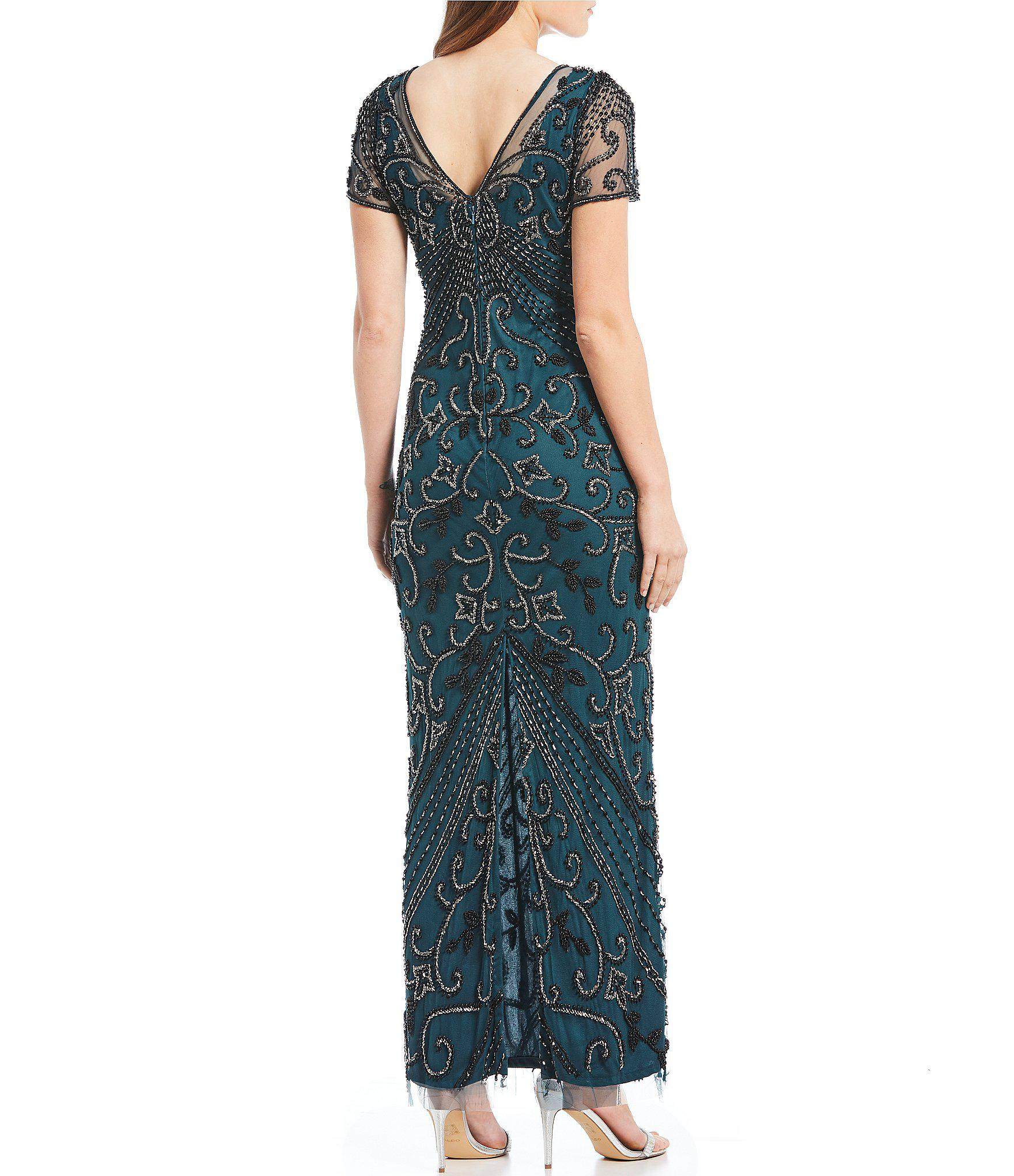 7a38d319c4596 Pisarro Nights - Multicolor Petite Size V-neck Beaded Gown - Lyst. View  fullscreen