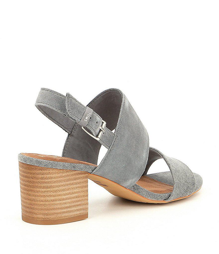 Poppy Suede Block Heel Sandals 7LaAlCw