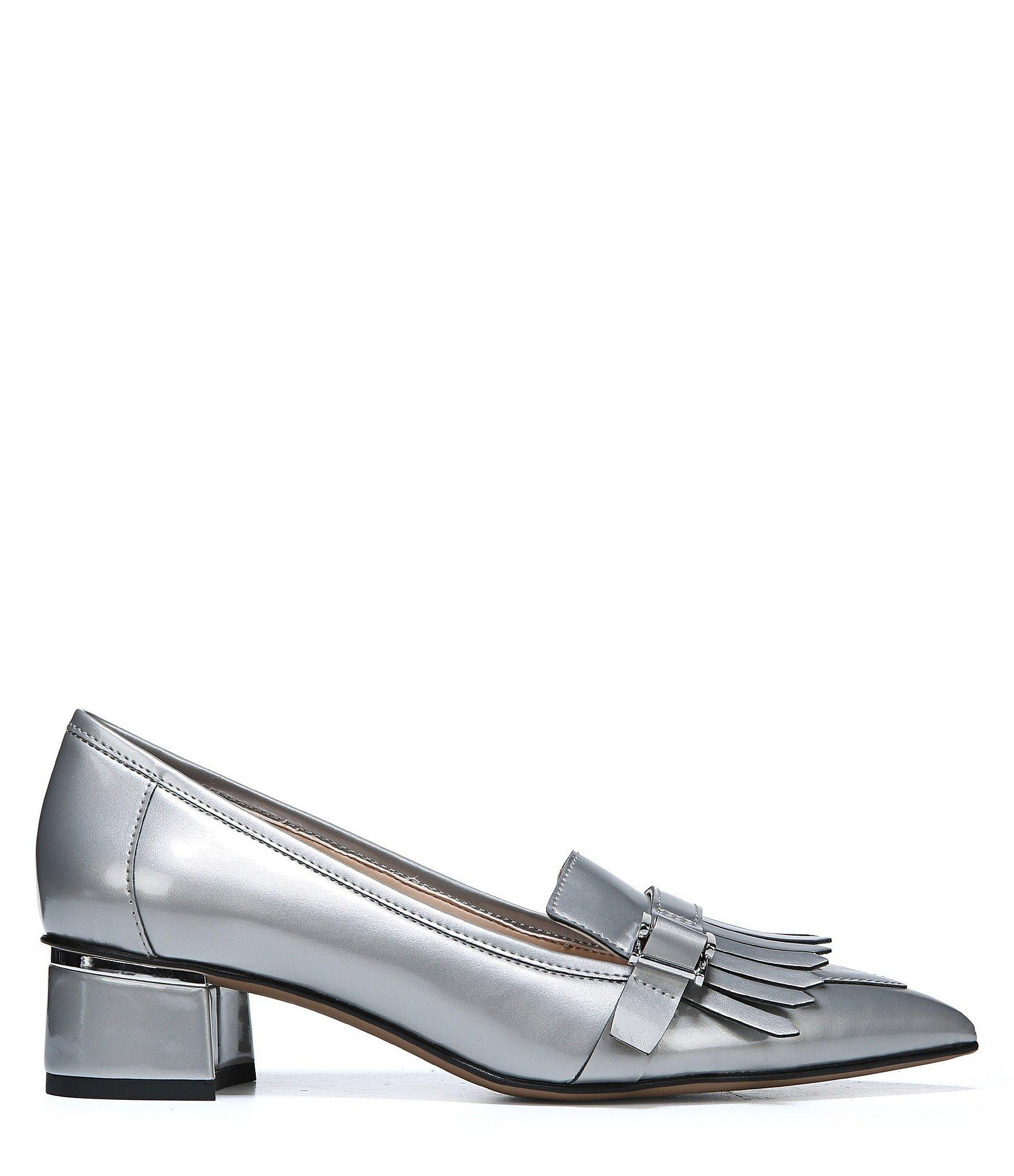 e9c70bbd38c Lyst - Franco Sarto Grenoble Keltie Patent Leather Block Heel Penny ...