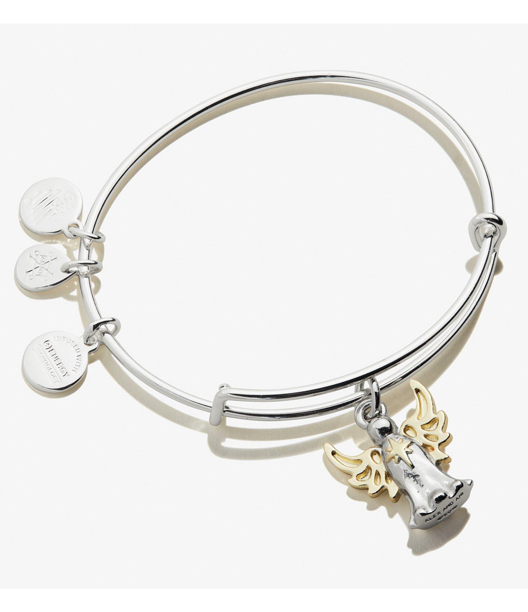 silver ball stretch bracelet With Black Stardust And Silver Candy Skull Charm
