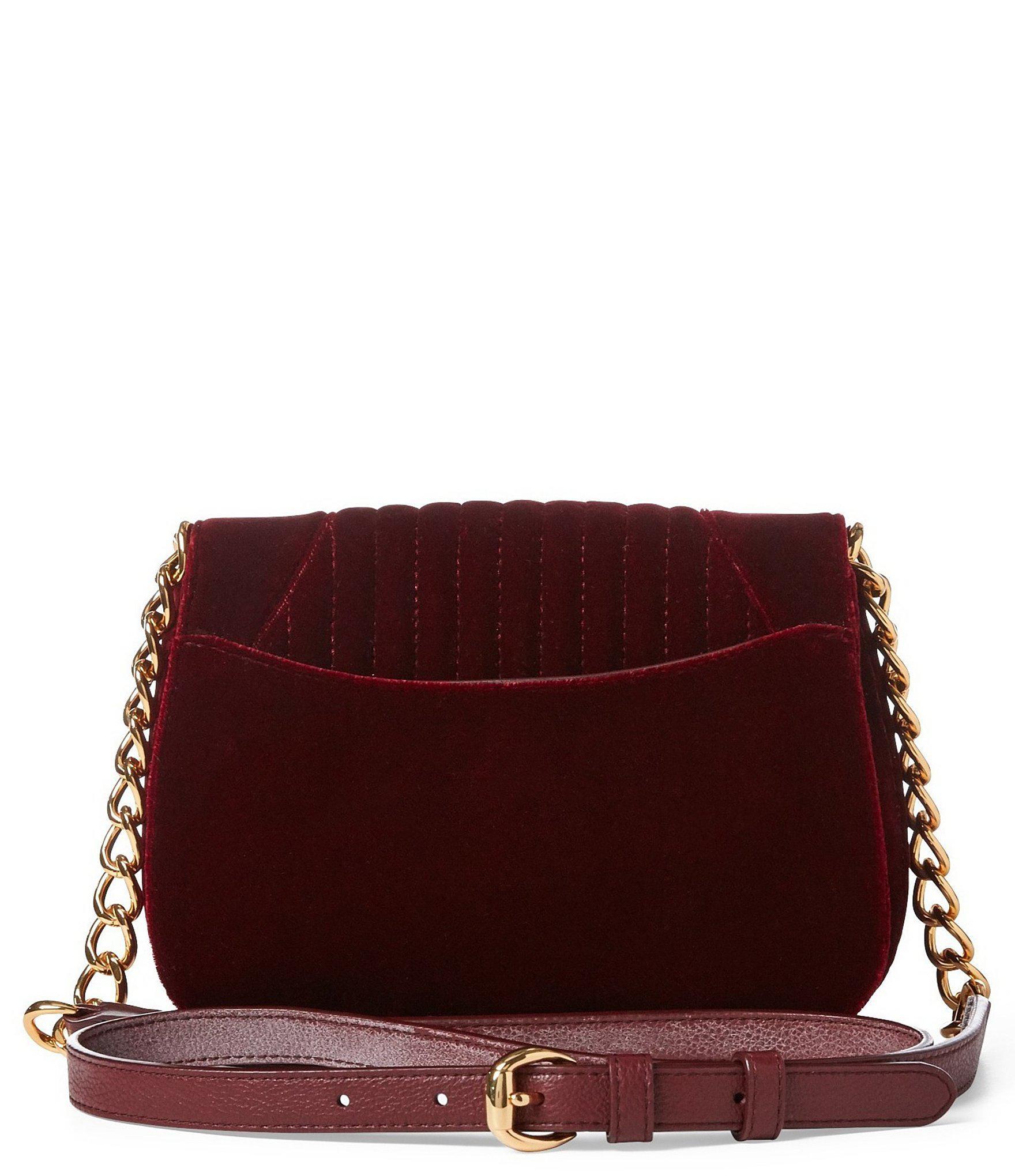 Lauren by Ralph Lauren - Purple Velvet Cross-body Bag - Lyst. View  fullscreen e9baff6361