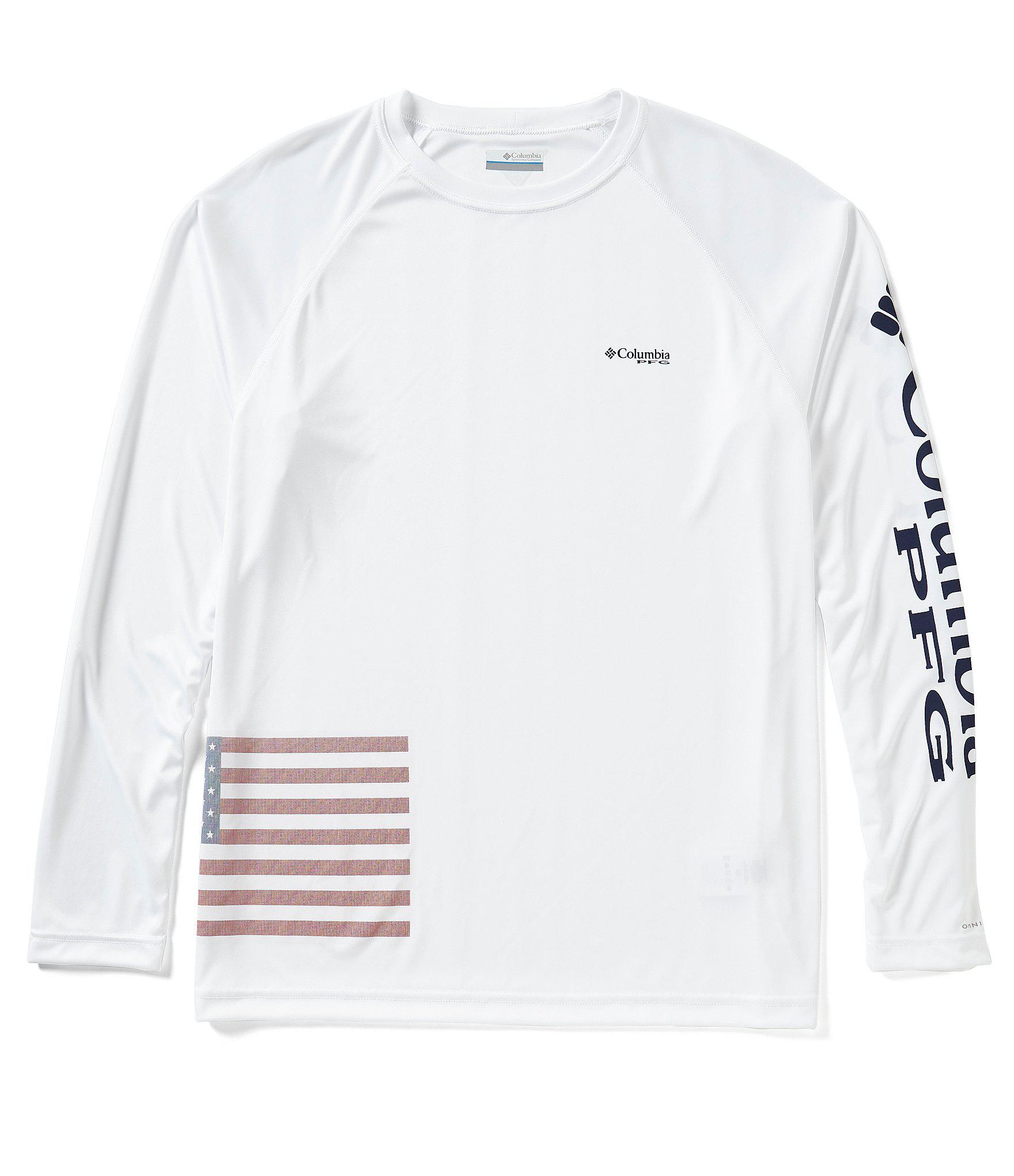 d4e6c85ce3b Columbia Pfg Fish Series Terminal Tackle Long-sleeve Tee in White ...