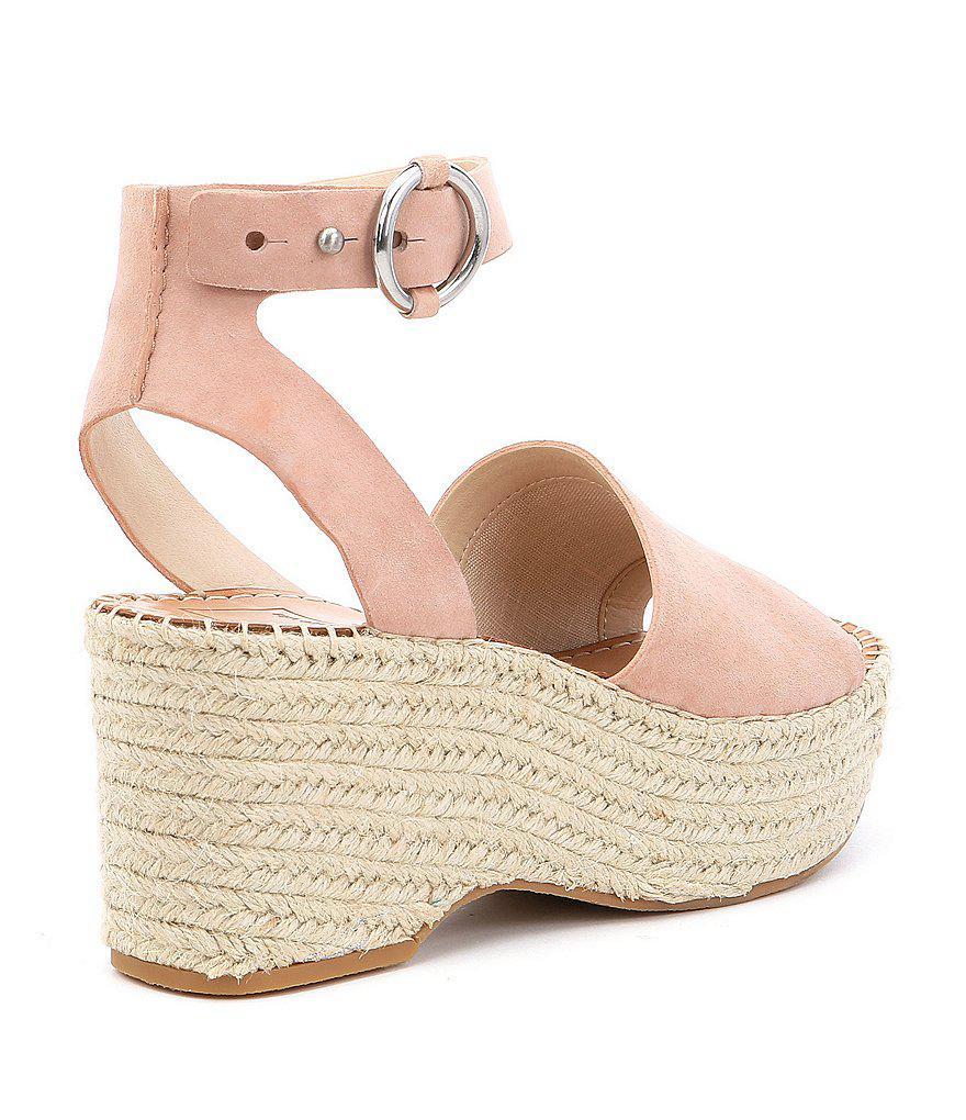 Lesly Suede Ankle Strap Platform Espadrille Sandals wKOflOG9