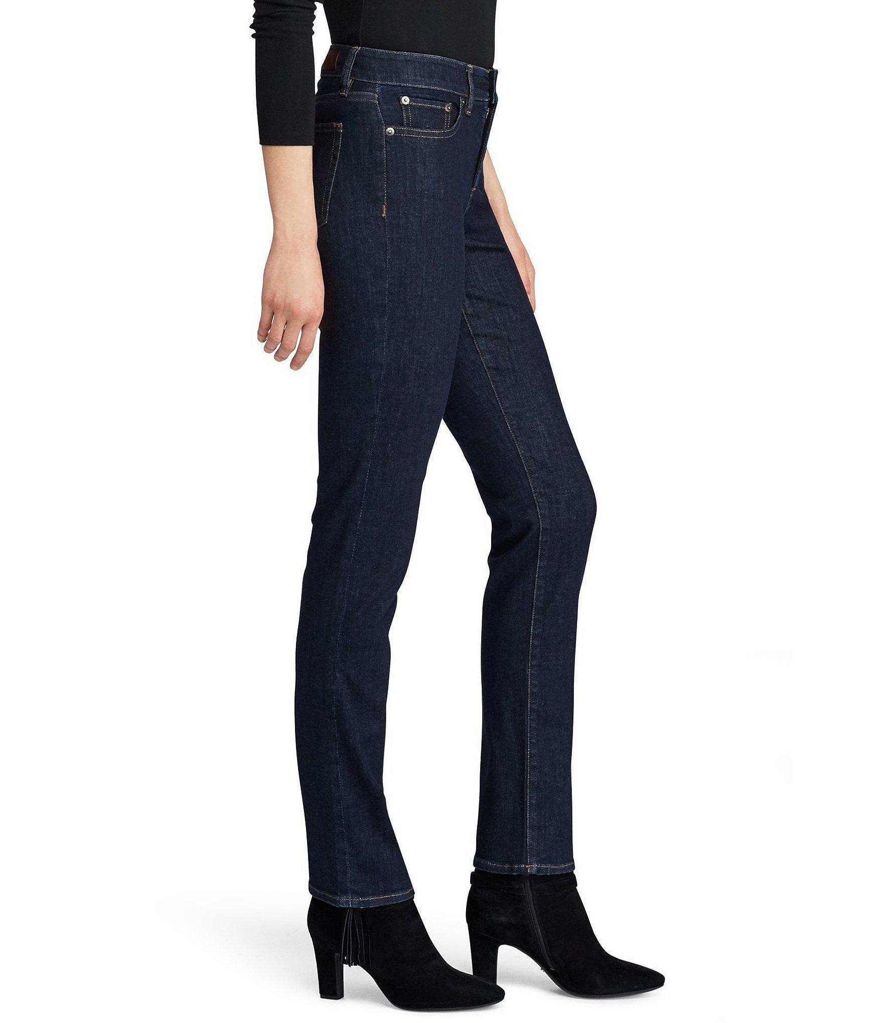 e701431f3b36c Lauren by Ralph Lauren - Blue Ultimate Slimming Premier Straight Curvy Jeans  - Lyst. View fullscreen