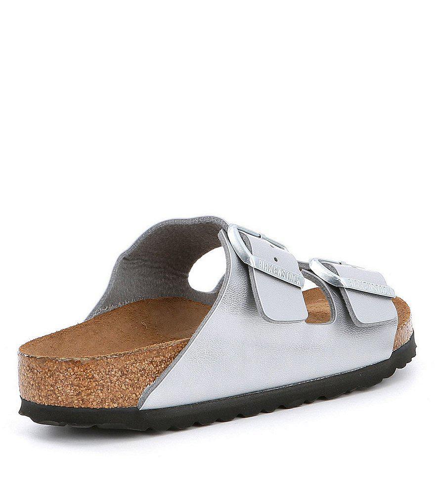 Arizona Metallic Double Banded Buckle Slip On Sandals 6SRPpKB