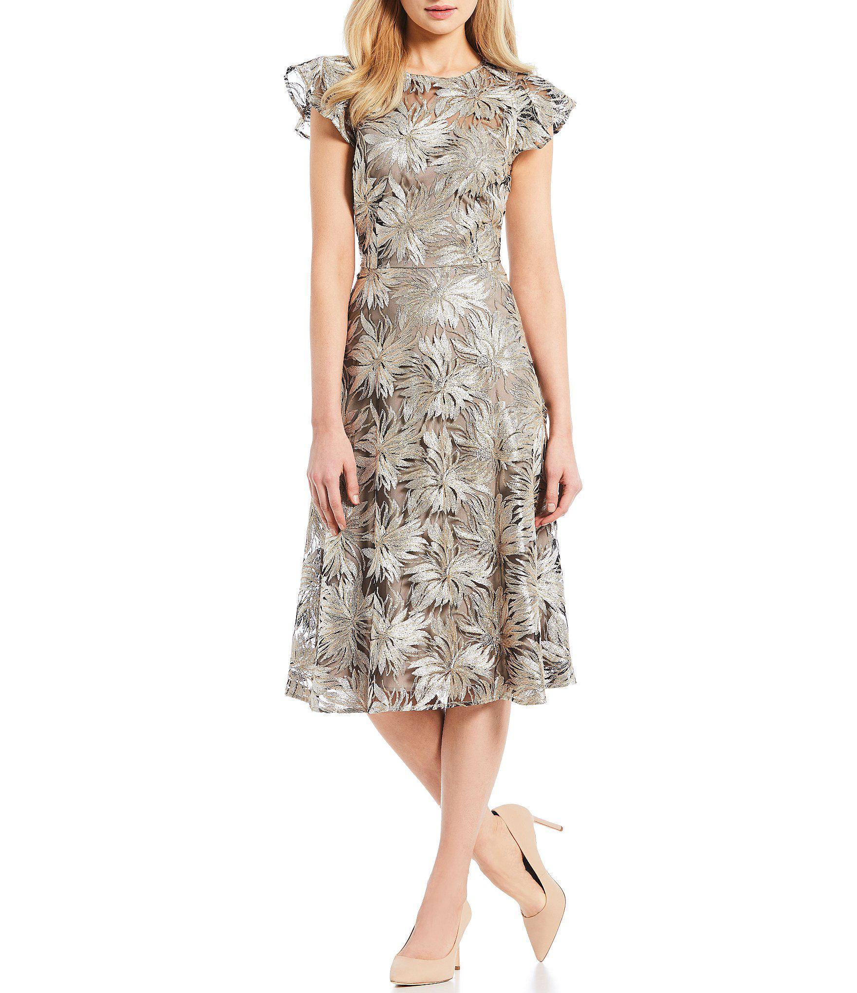 8d030731c6f Antonio Melani Ella Metallic Sequin Midi Dress in Metallic - Lyst
