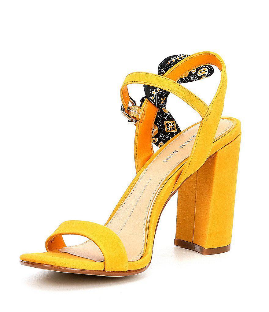 McKariatwo Bandana Tie Block Heel Dress Sandals cw95S
