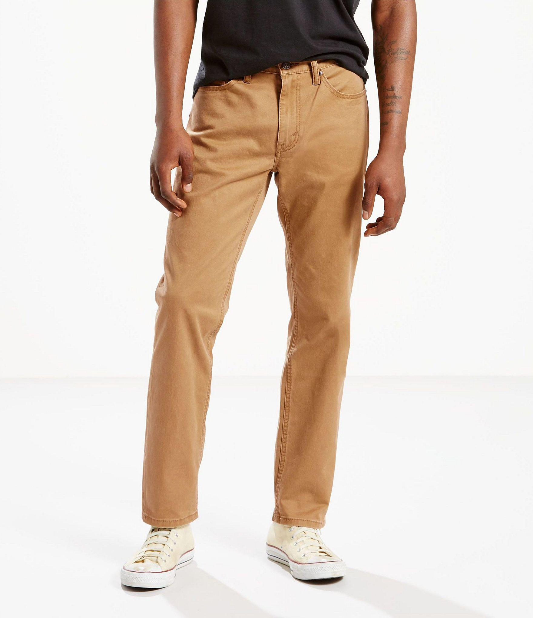 7e7e464f Levi's 541 Athletic-fit Stretch Twill Flat Front Pants in Brown for ...