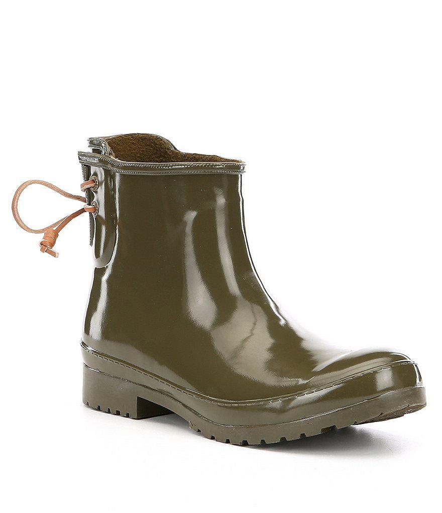 Sperry Walker Turf Lace Up Back Detail Rain Boots gUeSEeAhr