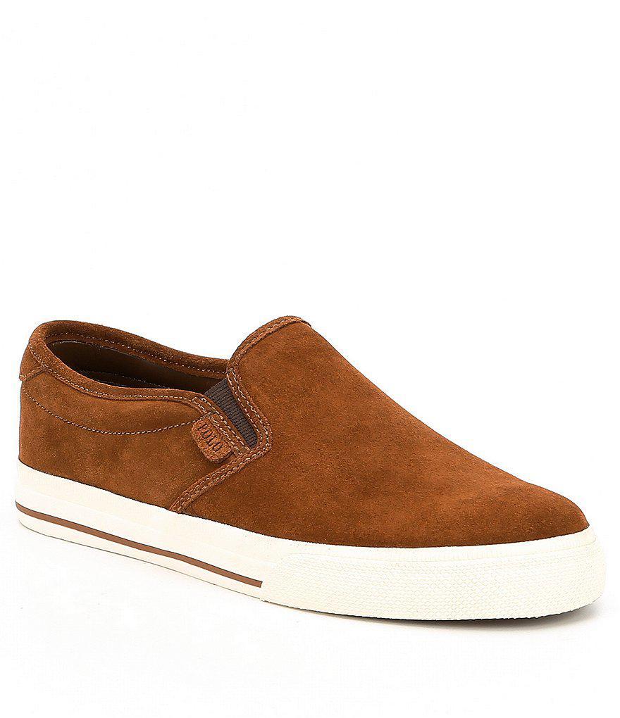 Polo Ralph Lauren. Brown Men ́s Vaughn Sneakers