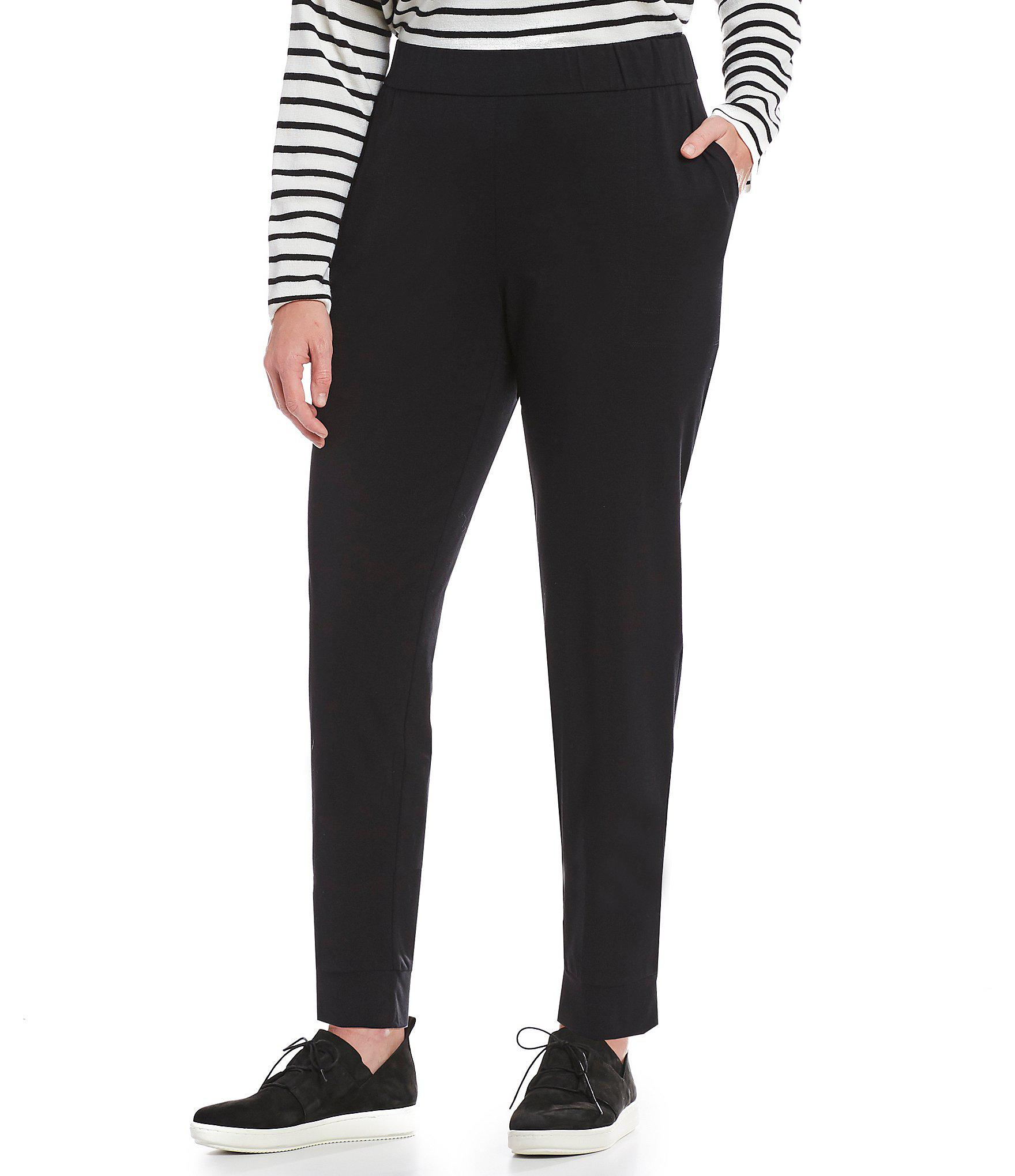 35f0e5eda68 Lyst - Eileen Fisher Plus Size Slouchy Pull-on Pants in Black
