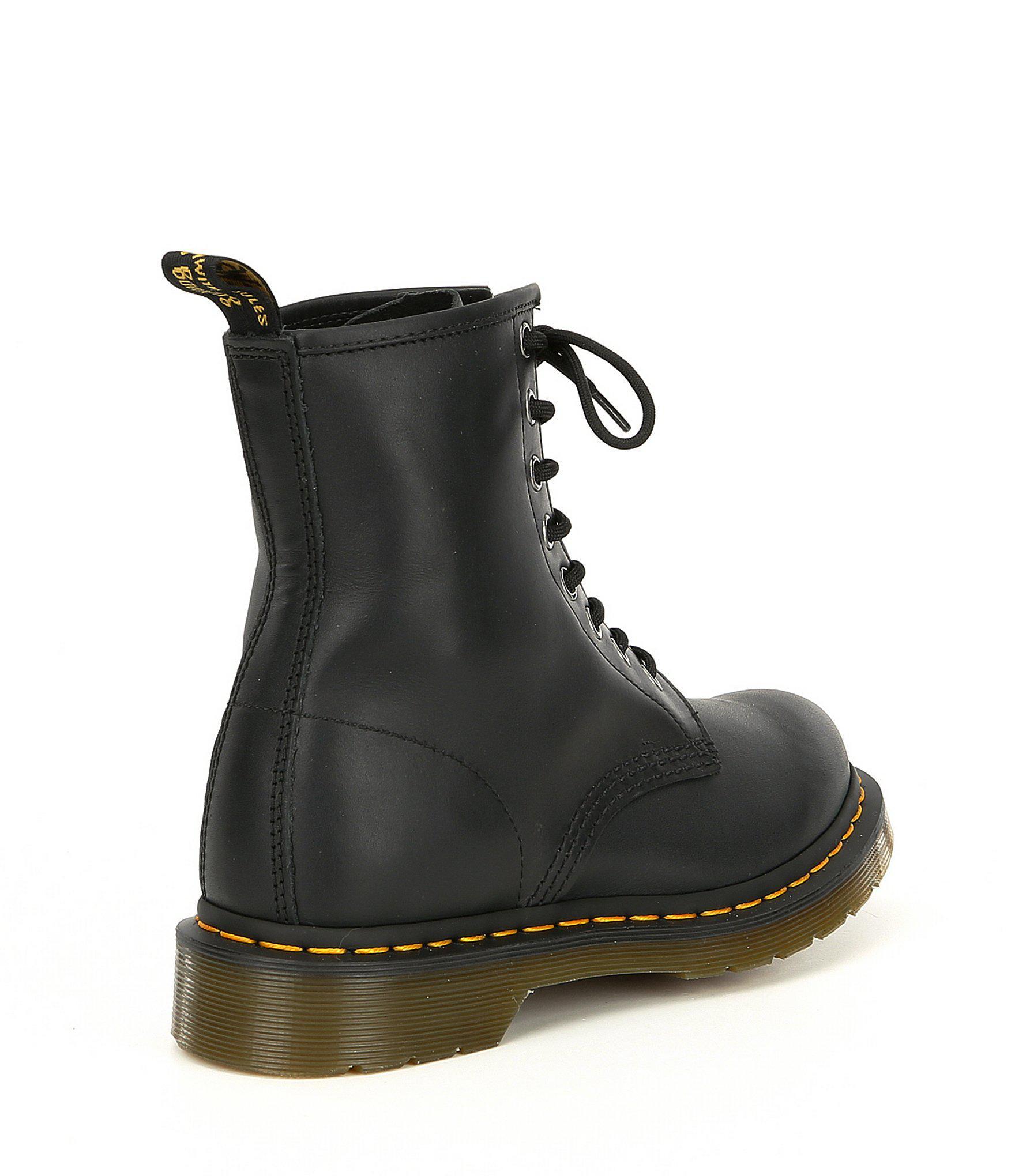 c5f51a59c1d Women's 1460 Black Nappa Combat Boots
