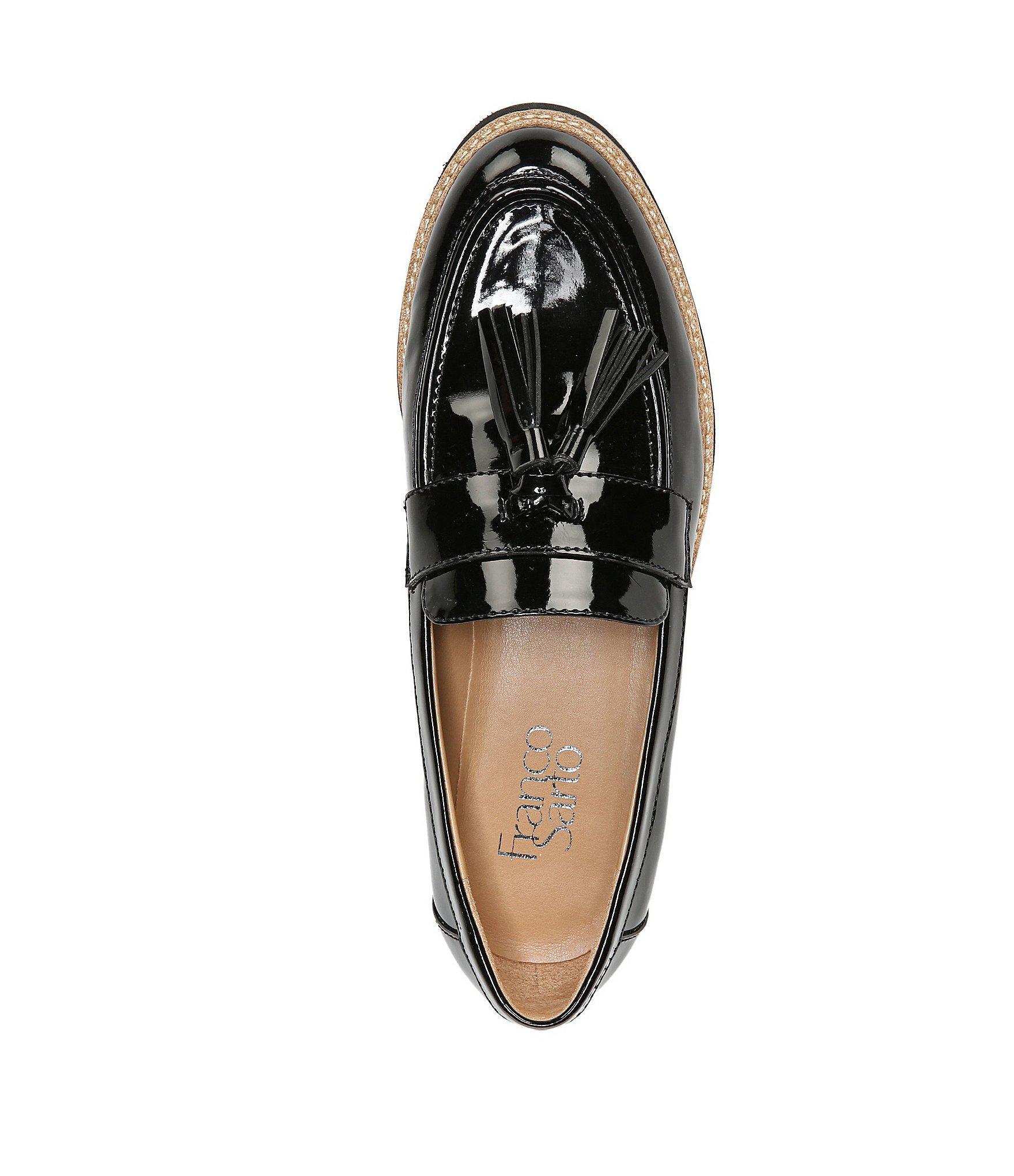 25b019fc5e0 Franco Sarto - Black Carolynn Tassel Loafers - Lyst. View fullscreen