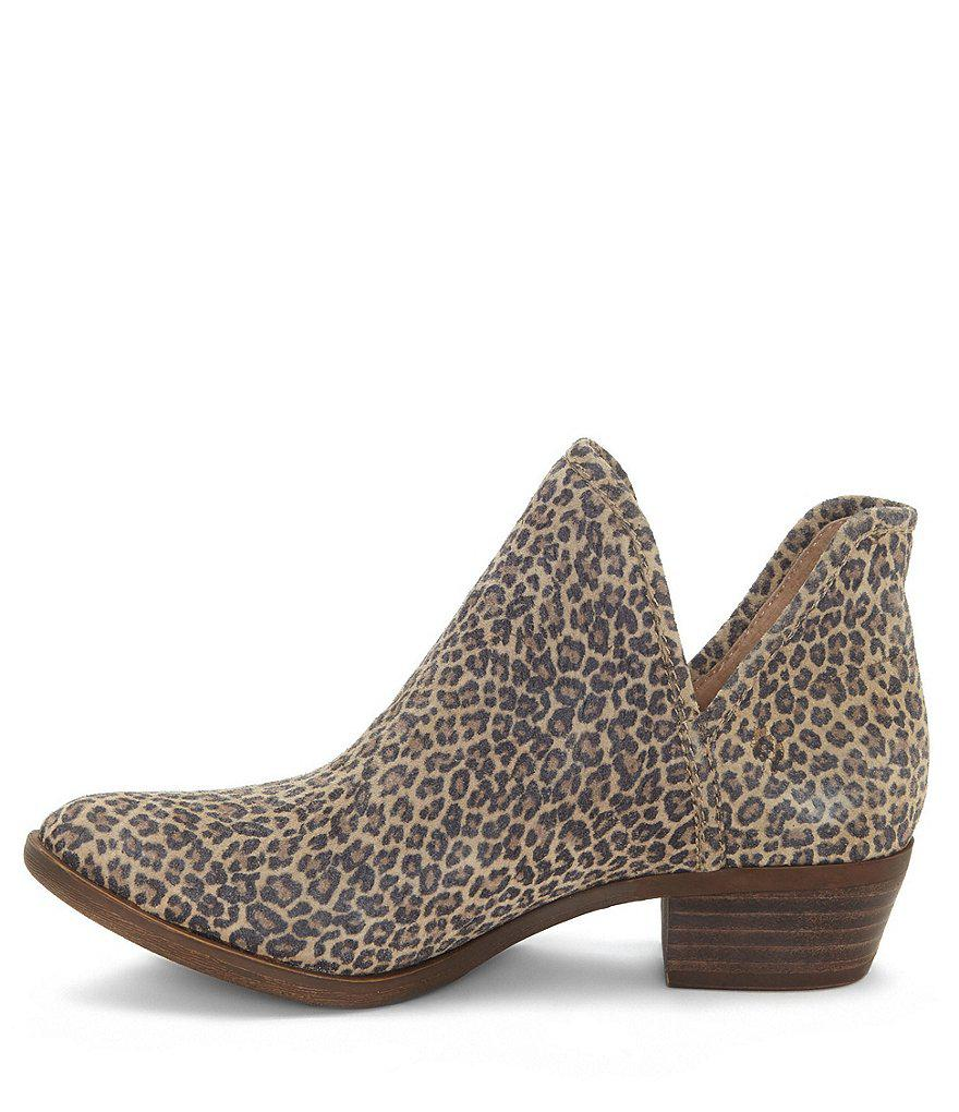 Lucky Brand Bashina2 Leopard Print Booties In Brown Lyst