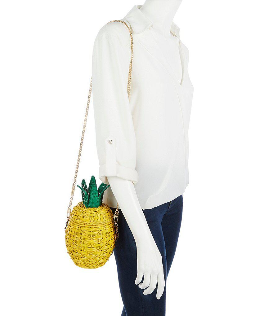 503bcc36f0be MICHAEL Michael Kors Pineapple Cross-body Bag in Yellow - Lyst