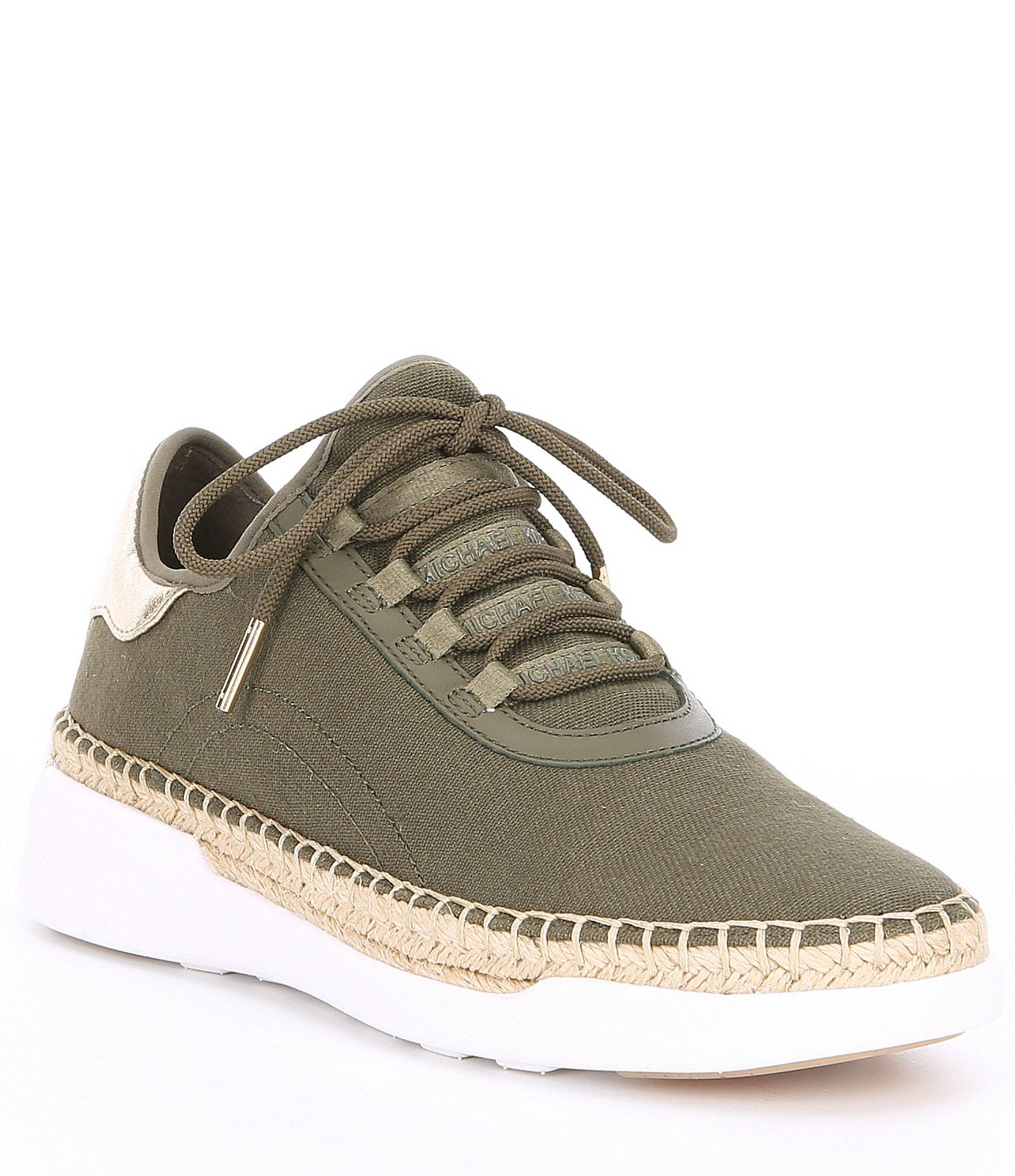 4c71bea80792 Lyst - Michael Kors Finch Canvas And Leather Lace-up Sneaker in ...