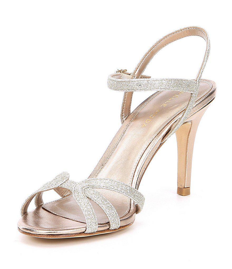Roslyn 3 Metallic Glitter Dress Sandals 40zuD