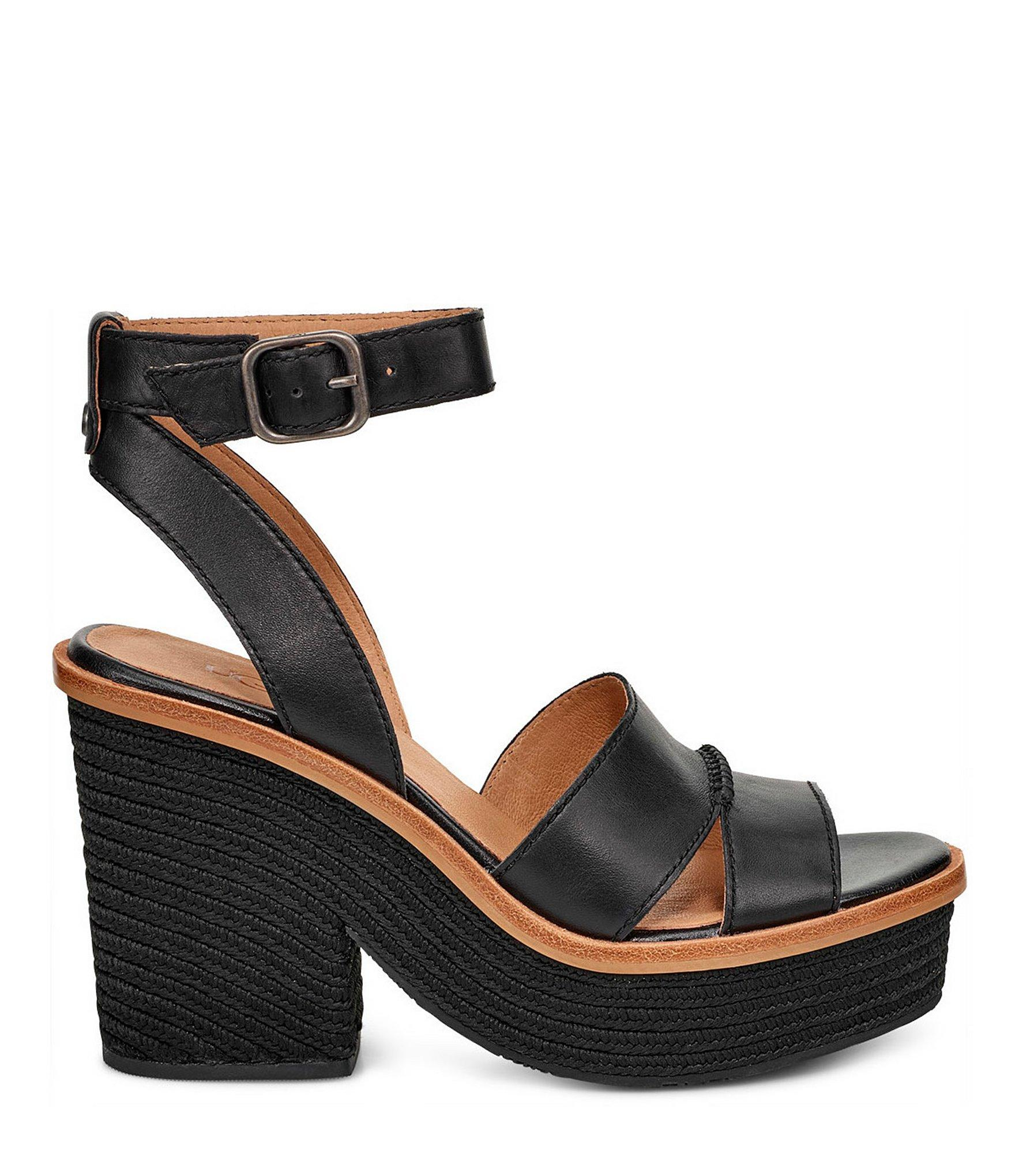 49398f49025 Women's Black Carine Banded Leather Sandals