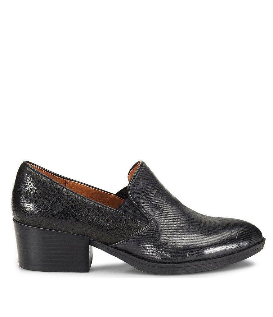 Velina Leather Block Heel Loafers xGdAxqCfC