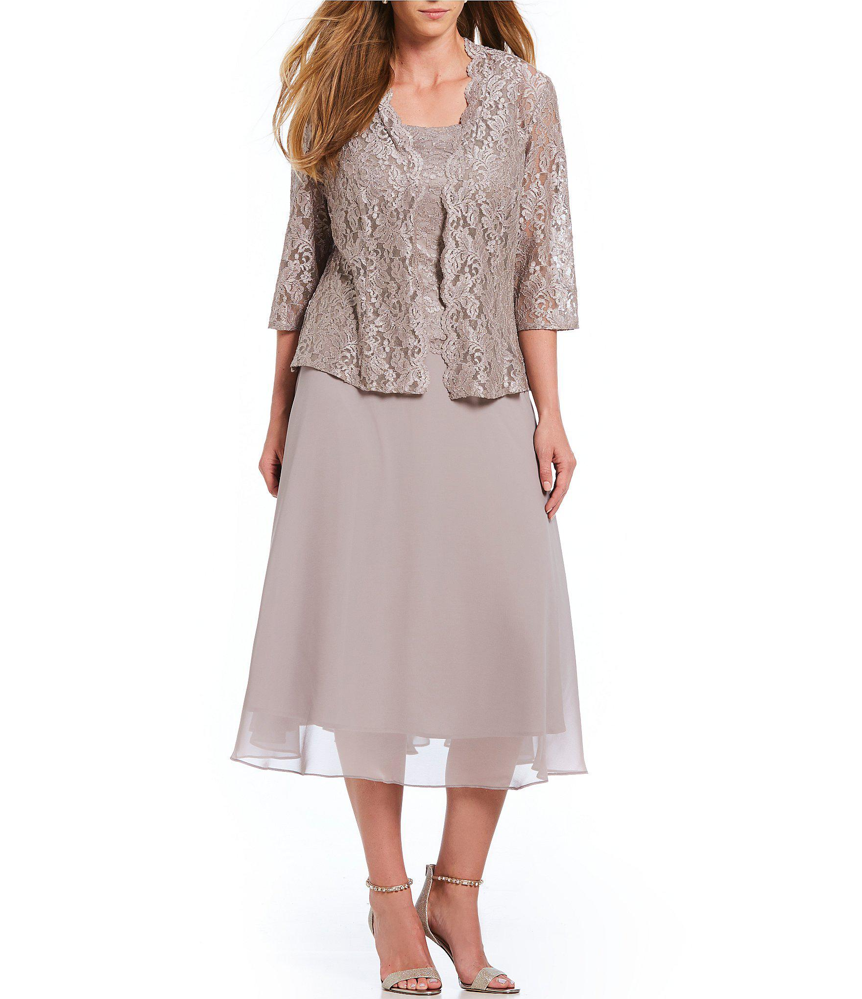 40dc2cb284 Lyst - Alex Evenings Plus Size Mock 2-piece Jacket Dress