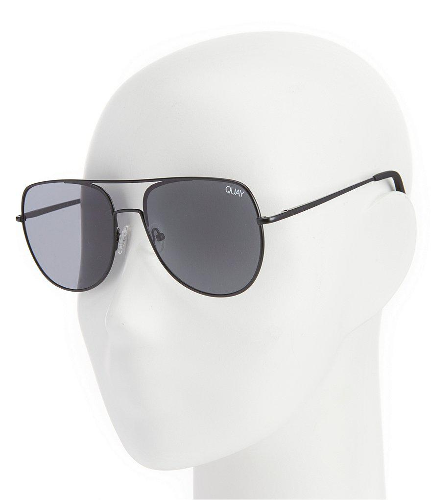 ca8a1ff000fc6 Lyst - Quay Living Large Aviator Sunglasses in Black