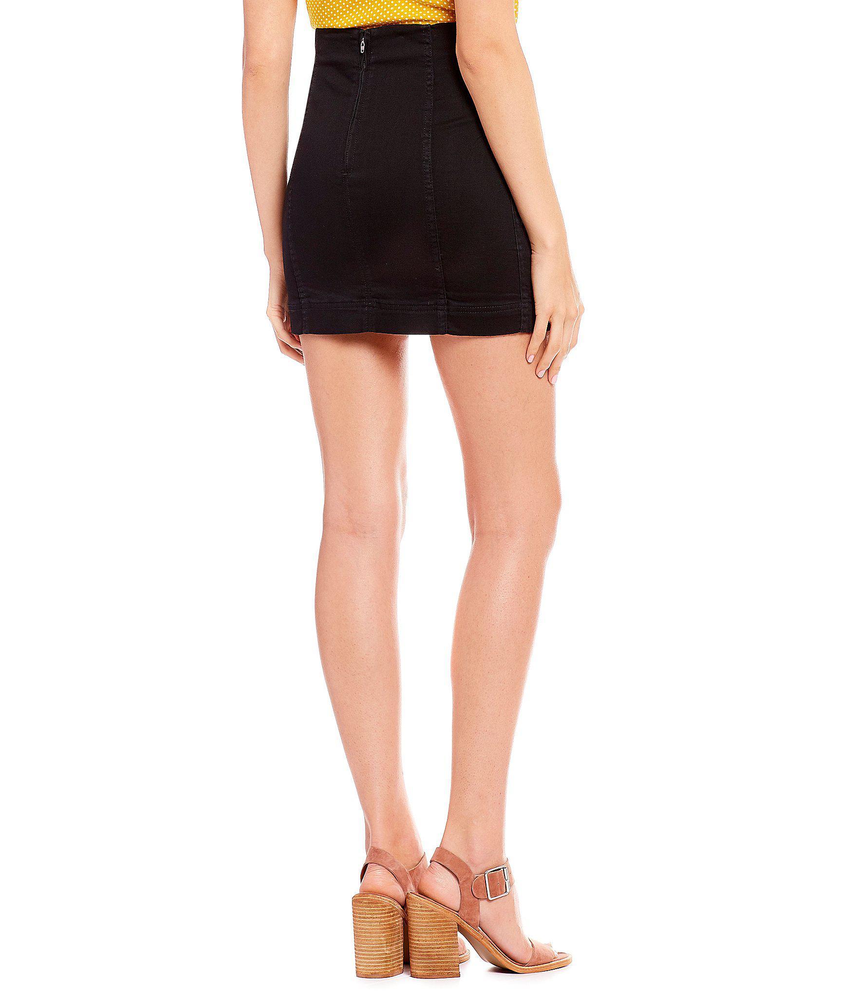 881bb8c95 Jolt Seamed Mini Skirt in Black - Lyst