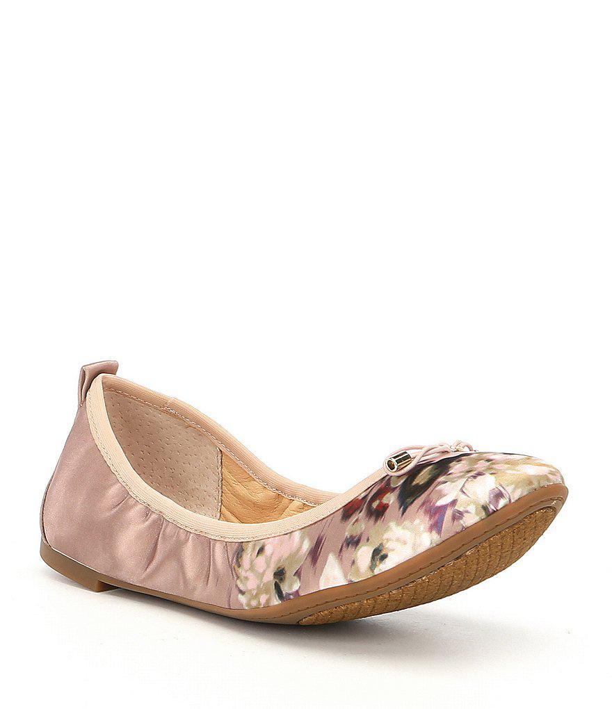Jessica Simpson Nalan Satin Floral Ballet Flats pXuNtz