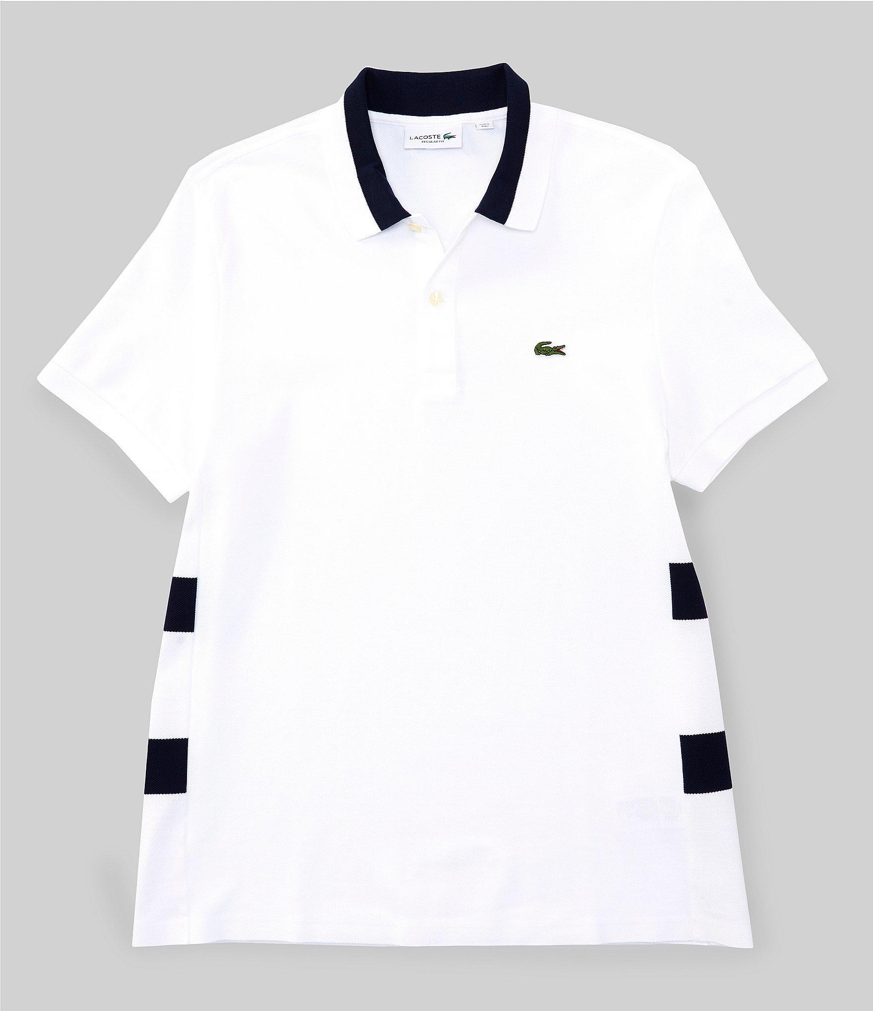 dbe5688636 Lacoste - Blue Side Stripe Short-sleeve Polo Shirt for Men - Lyst. View  fullscreen