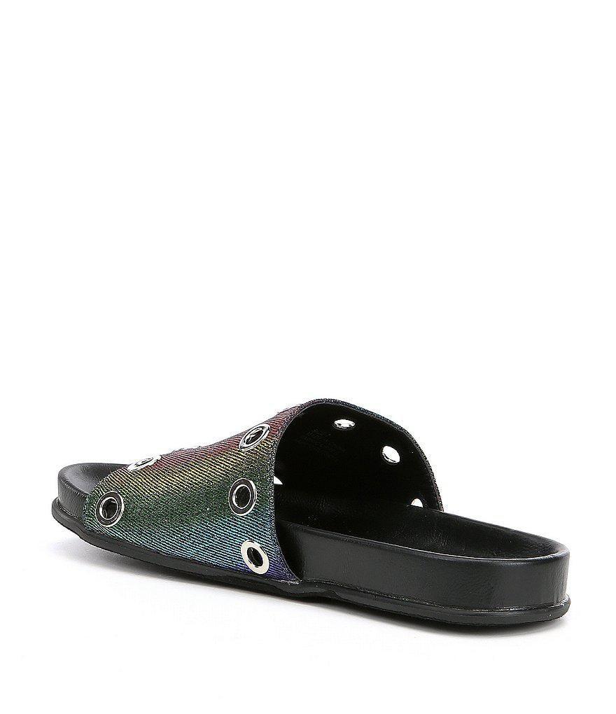 Lenny Rainbow Grommet Detail Sandals oinAlmy