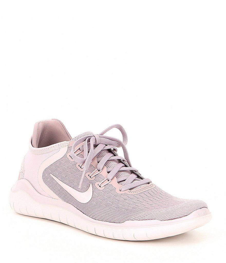 57e3ea352ef ... where to buy lyst nike womens free rn 2018 running shoes in pink 02905  eff12