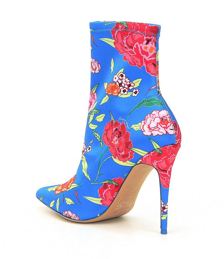 ALDO Cirelle Floral Print Stretch Sock Booties