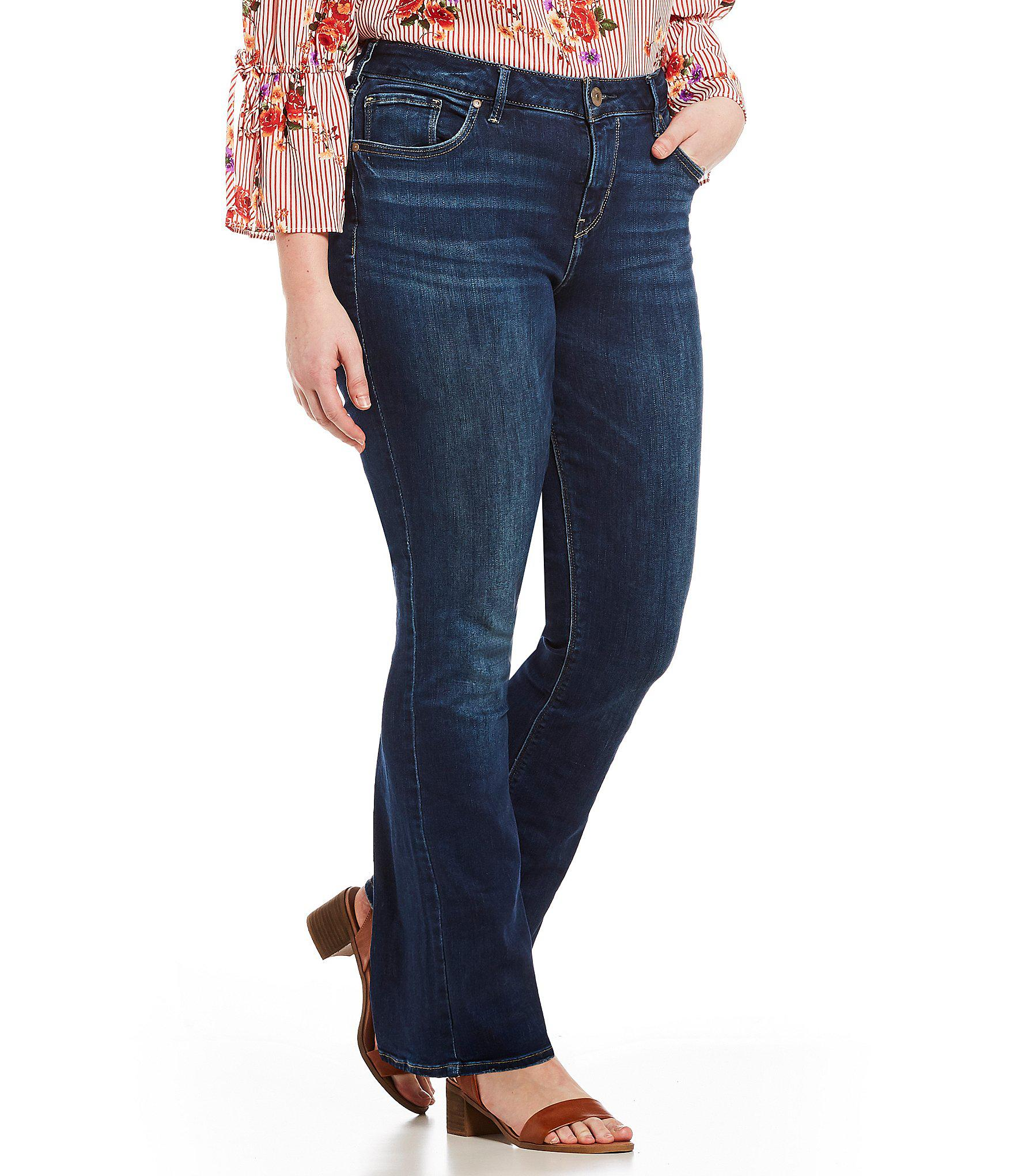 fae41a0f57e Lyst - Silver Jeans Co. Plus Size High Rise Avery Slim Clean Bootcut ...