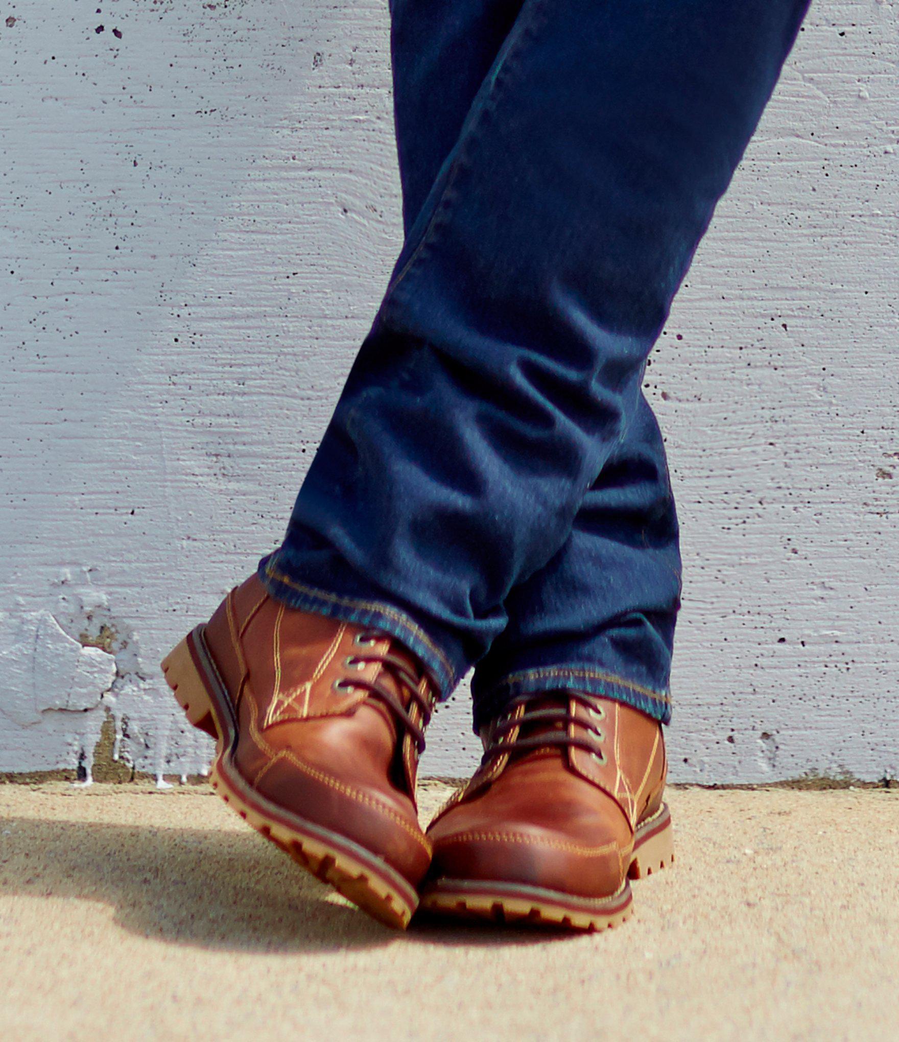 69284032c21 Men's Brown Earthkeeper Waterproof Leather Boots