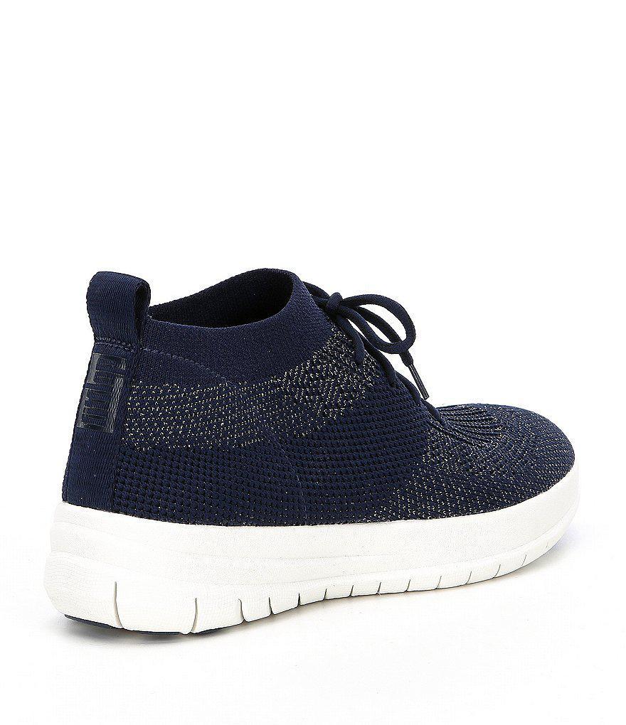 a90dd206c6b56a Lyst - Fitflop Uberknit High Top Sneakers in Black for Men