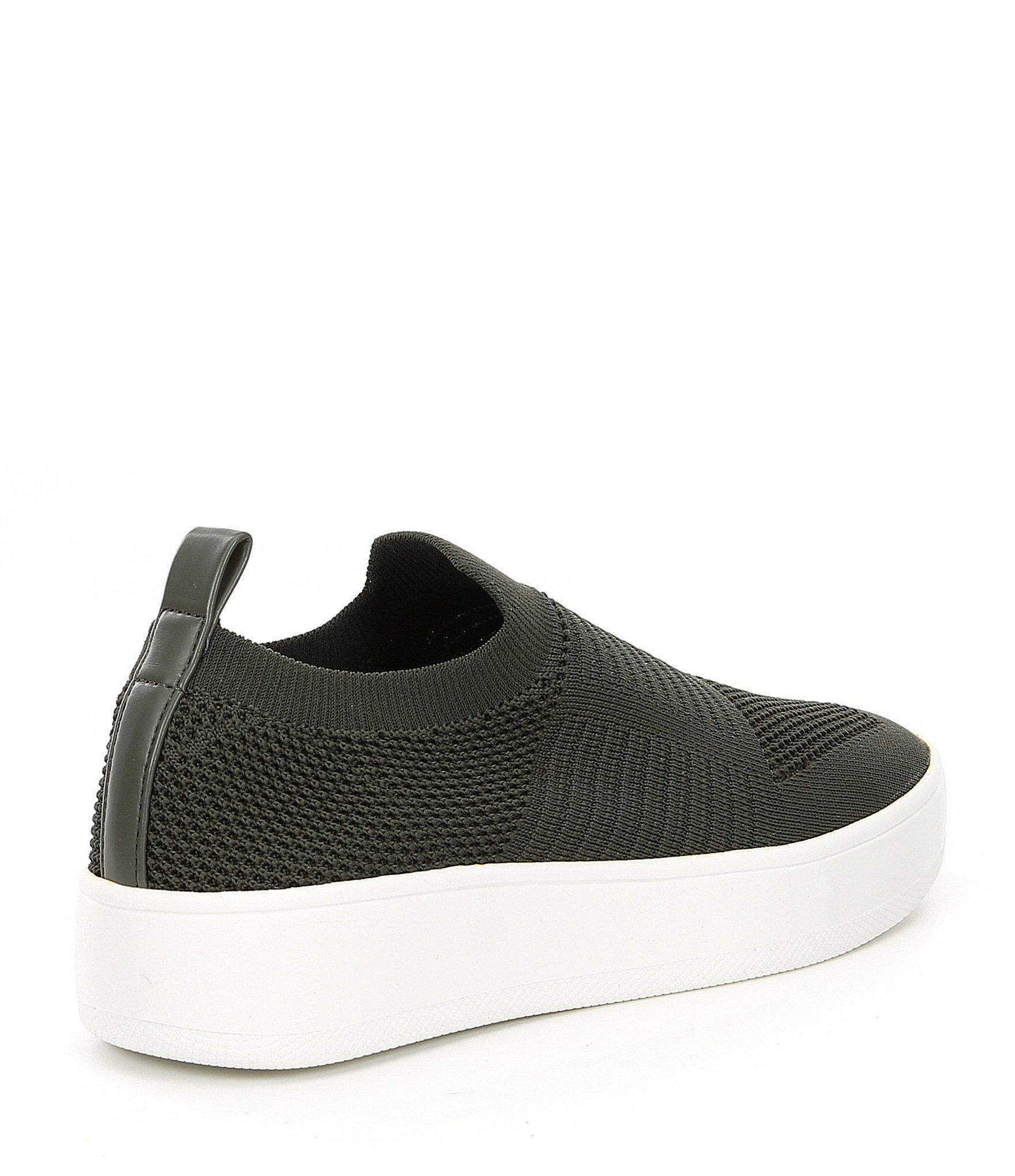 Beale Stretch Knit Sneakers steve madden beale white Shoes