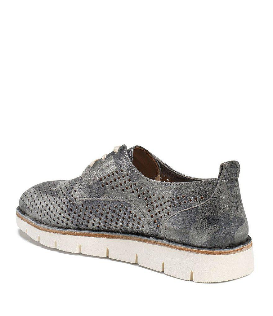 Lena Metallic Suede Perforated Sneakers trOSbaO6H