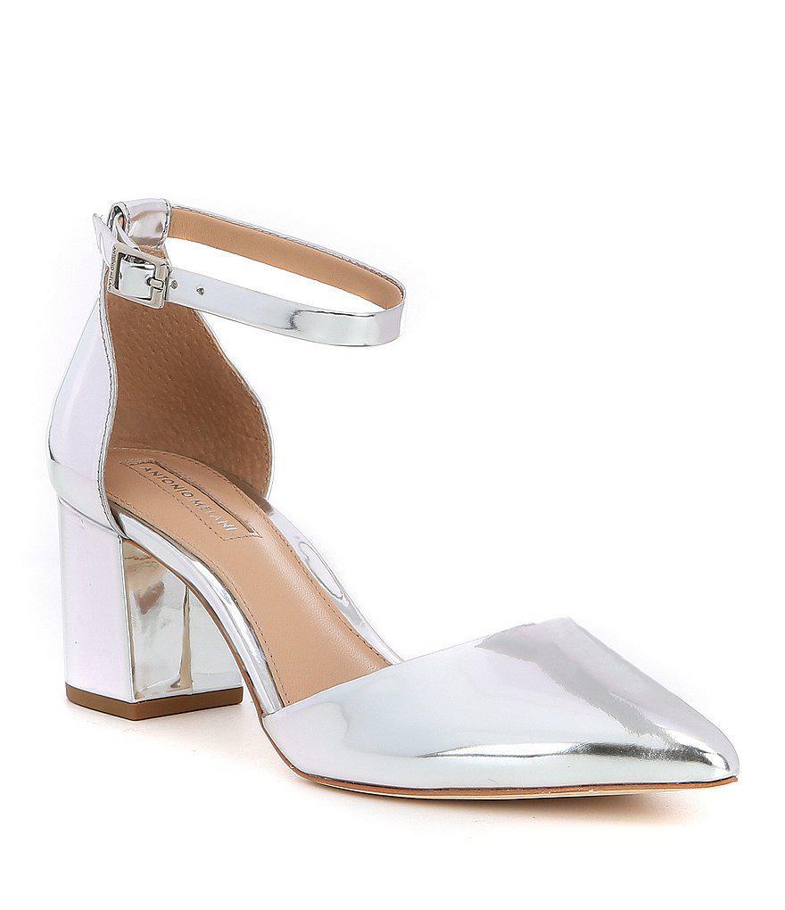 87fc4c92160 Antonio Melani Lynlee Mary Jane Ankle Strap Buckle Block Heel Dress ...