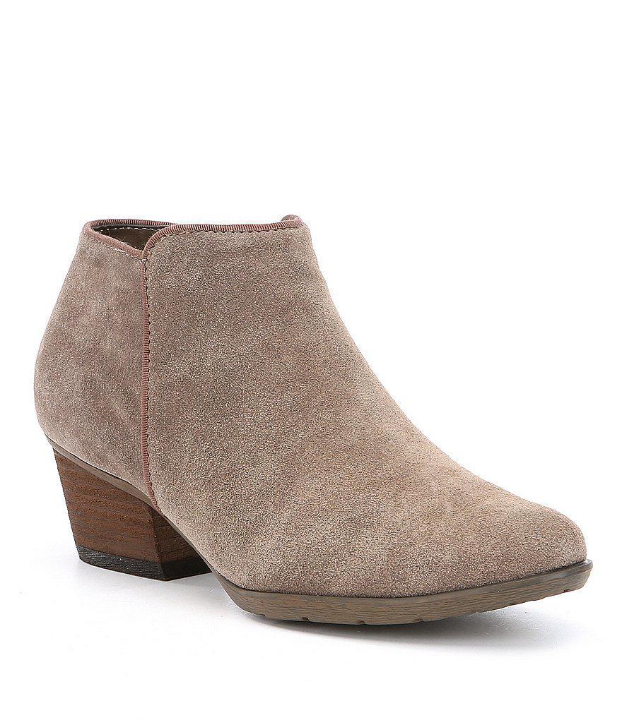 Blondo Waterproof Villa Nubuck Leather Block Heel Booties NypL81t
