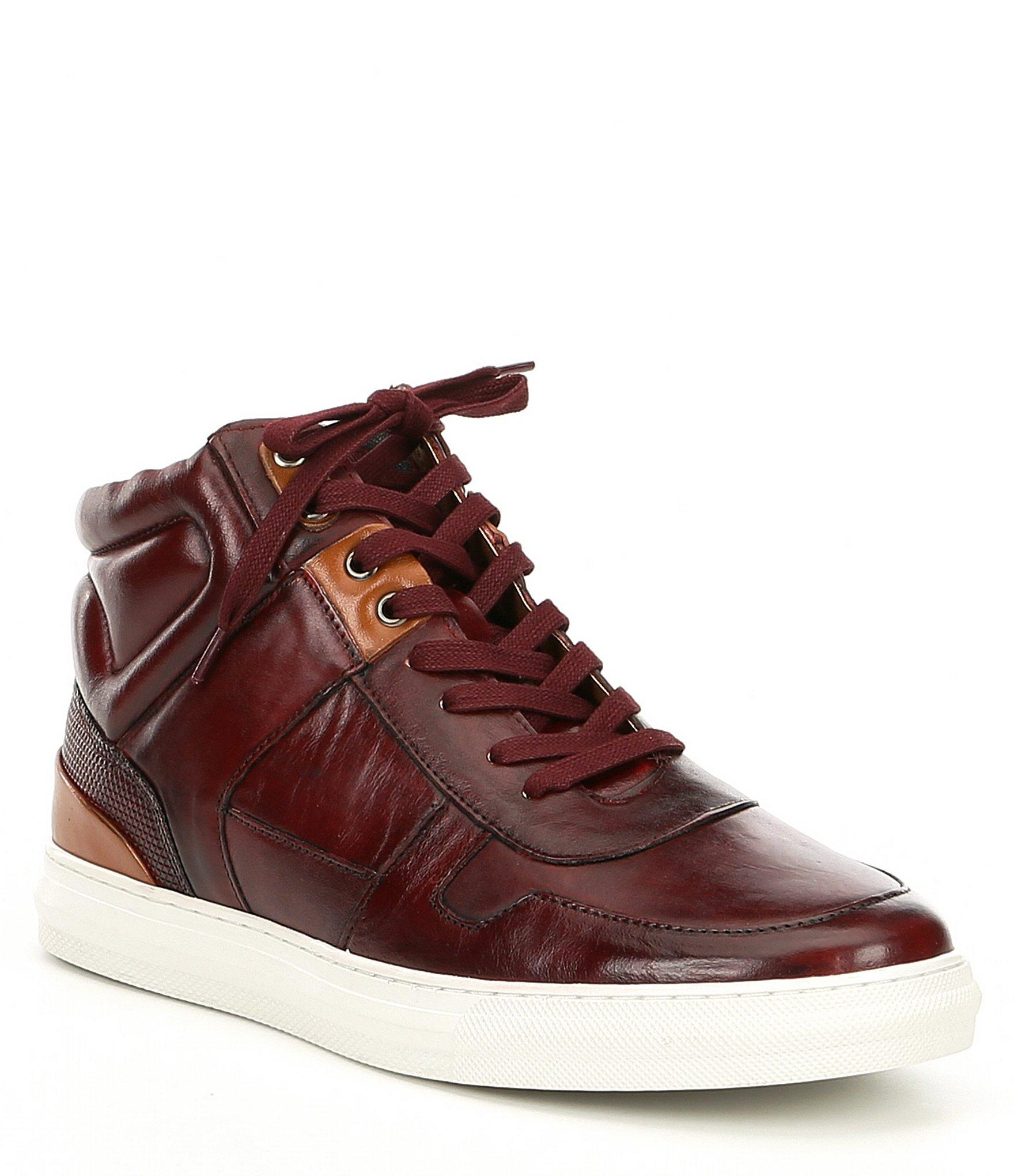 aec7ccbb93a9 Lyst - Steve Madden Mens Sharper Leather Hi-top Leather Sneaker in ...
