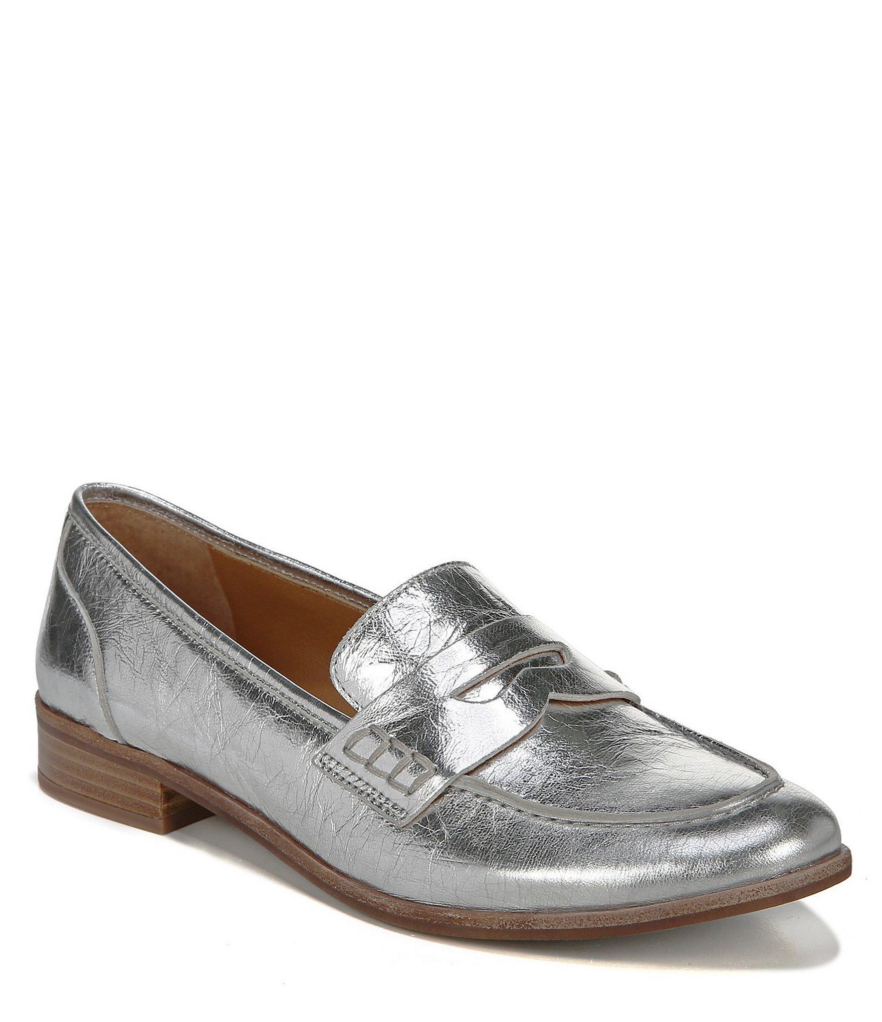 c5847d9a84c Franco Sarto. Women s Sarto By Jolette Metallic Leather Block Heel Loafers