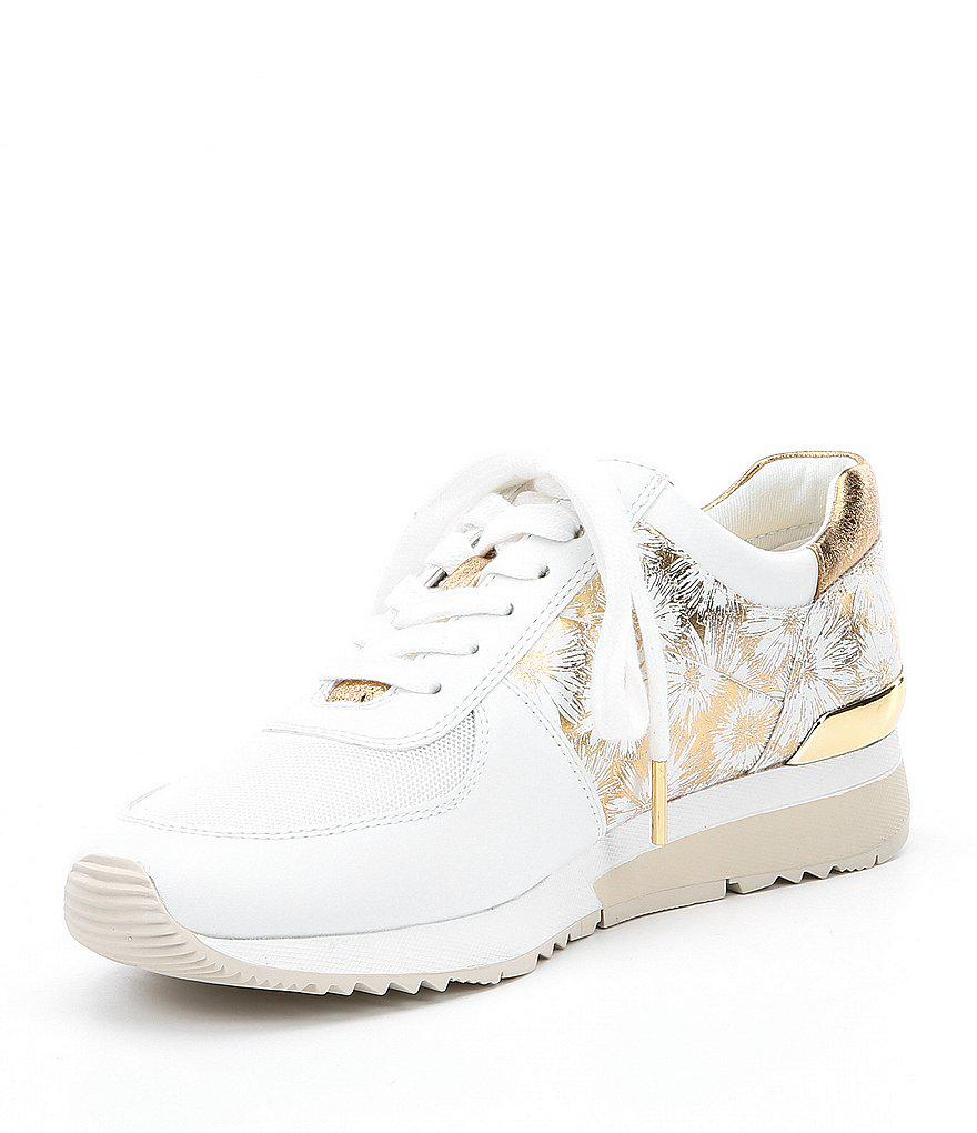2788f1435a7c Lyst - MICHAEL Michael Kors Allie Trainer Floral Print Sneakers in White