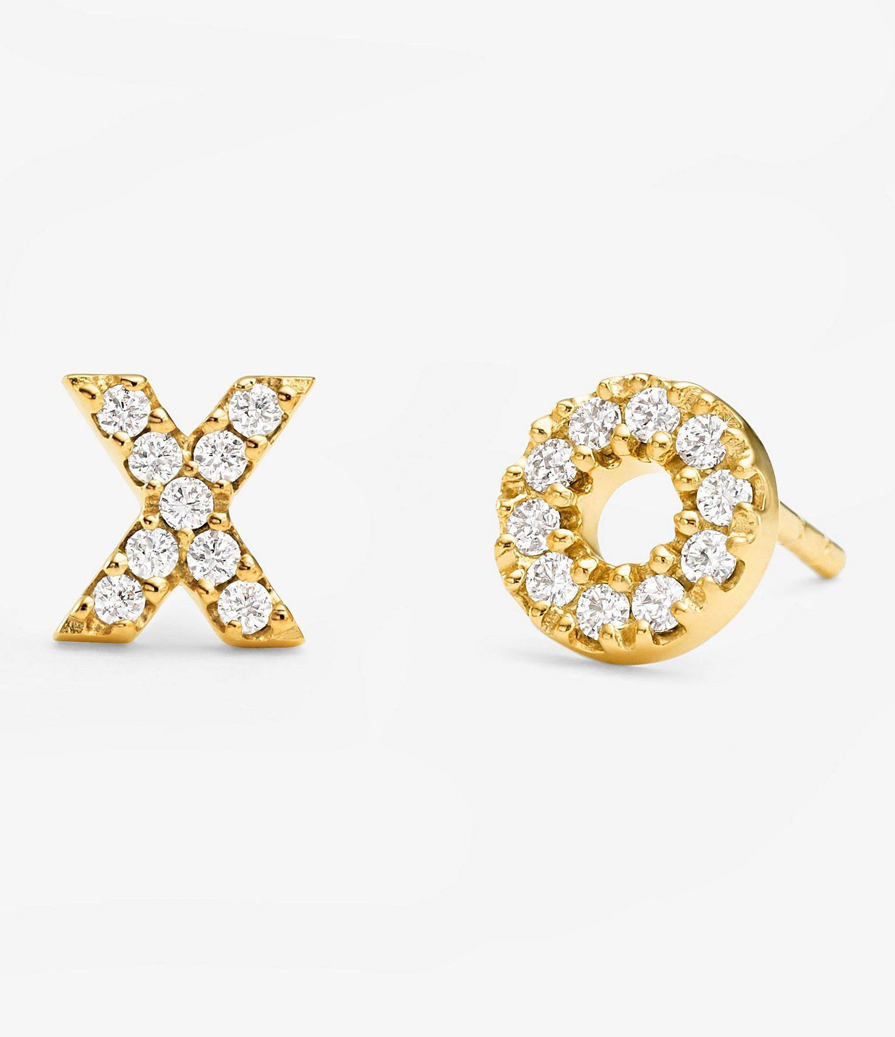 943b86cd2ad99 Michael Kors Metallic Custom Kors Collection Sterling Silver X And O Stud  Earrings