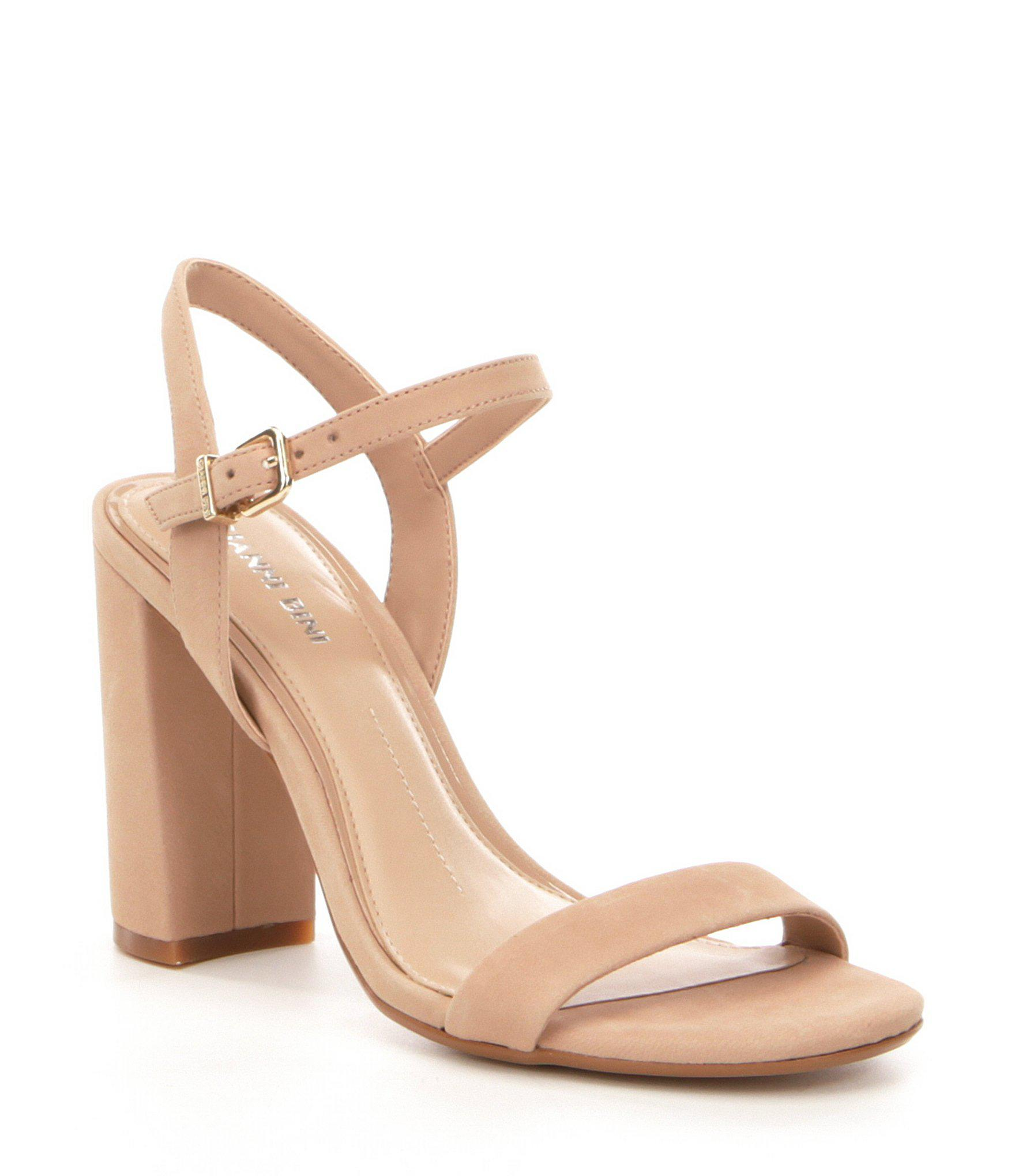 28989bced9f Lyst - Gianni Bini Mckaria Block Heel Dress Sandals in Pink