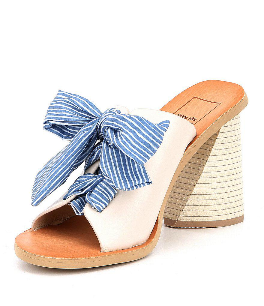Dolce Vita Amber Tie Front Block Heel Sandals gN5QKAjx